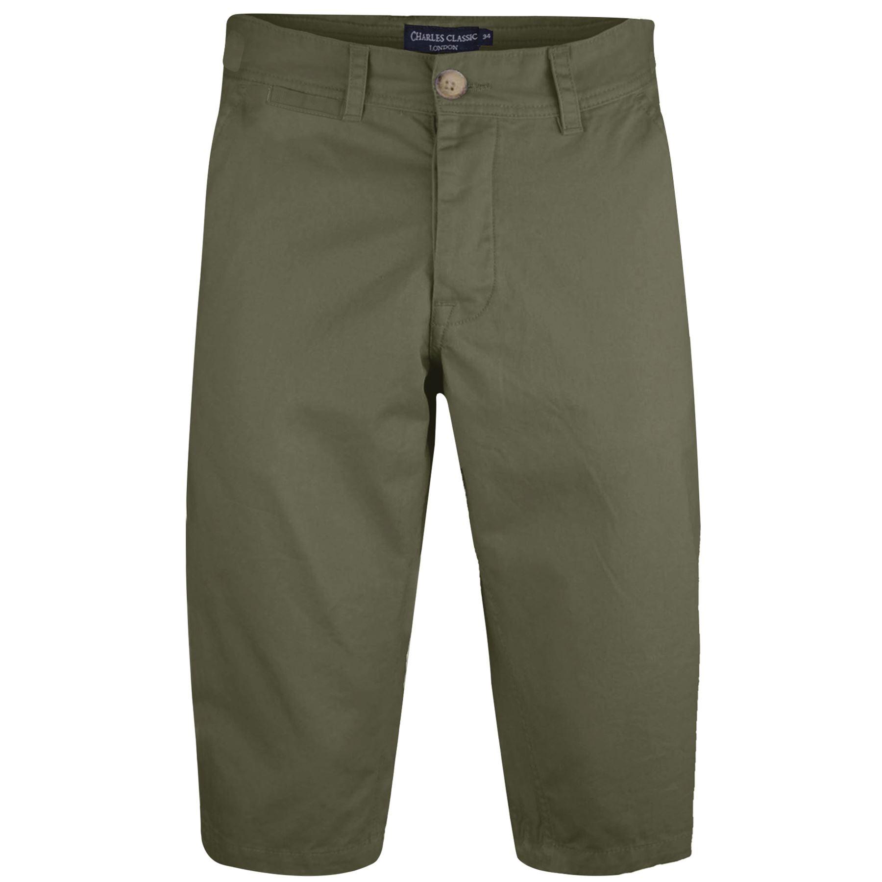 Mens Kangol Casual Knee Length Long 3/4 Chino Summer Shorts Bottoms ...