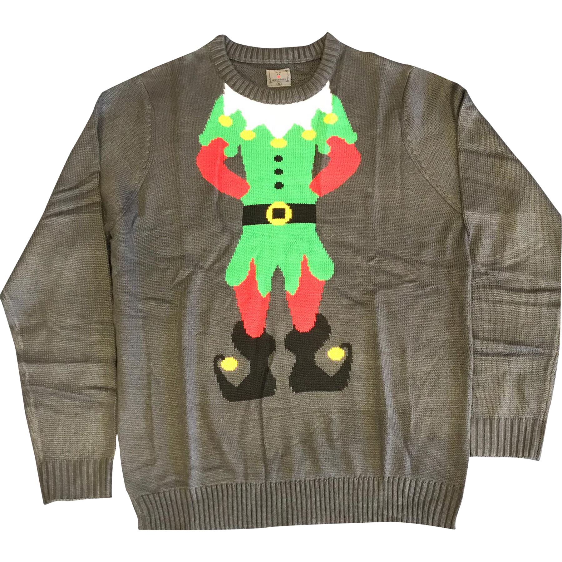 Noroze Mens Premium Novelty Knitted Christmas Sweater Elf Jumpers
