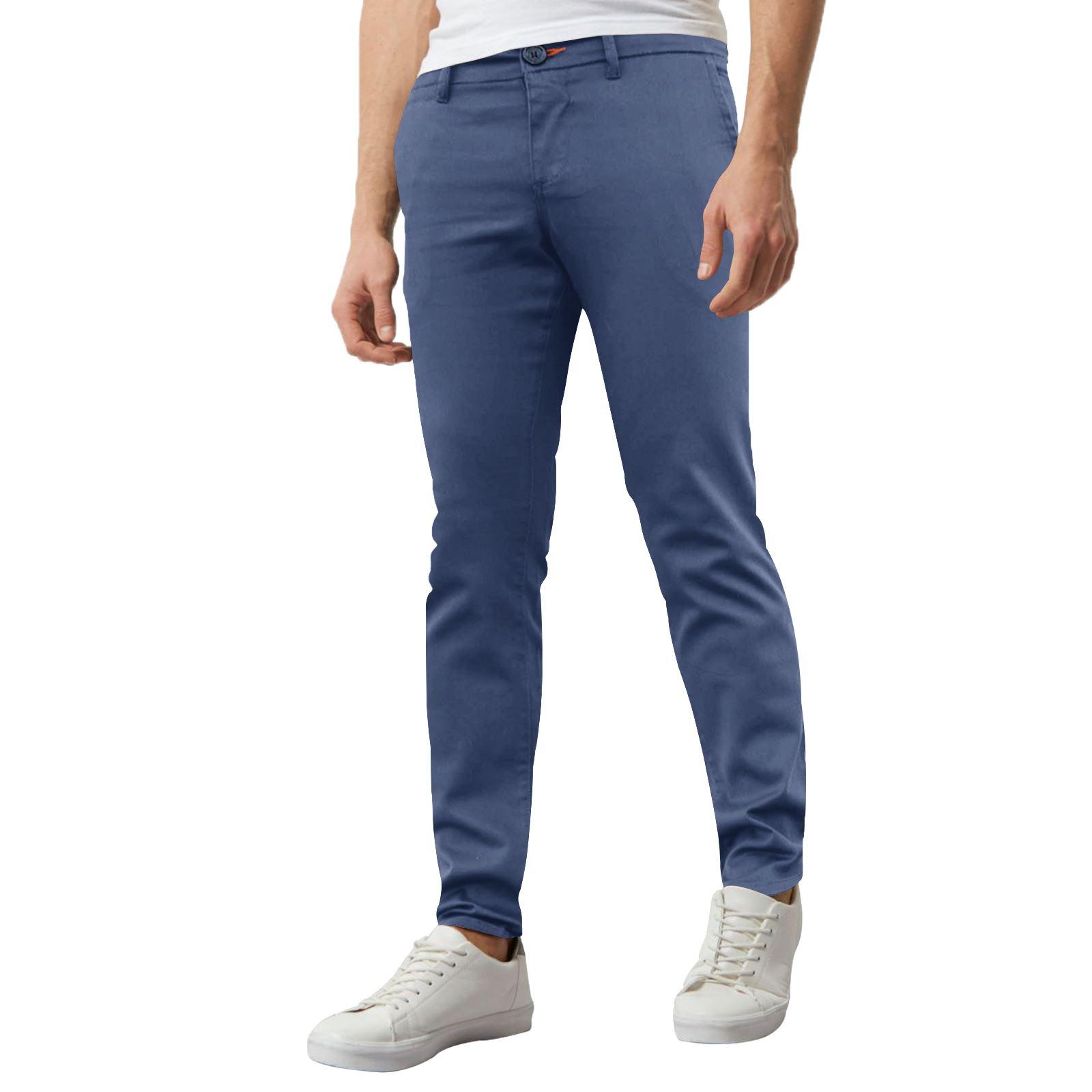 Jeans-Para-Hombre-de-Disenador-Nuevo-chinos-Elastizados-ajustados-Calce-Ajustado-Pantalones-todos miniatura 25
