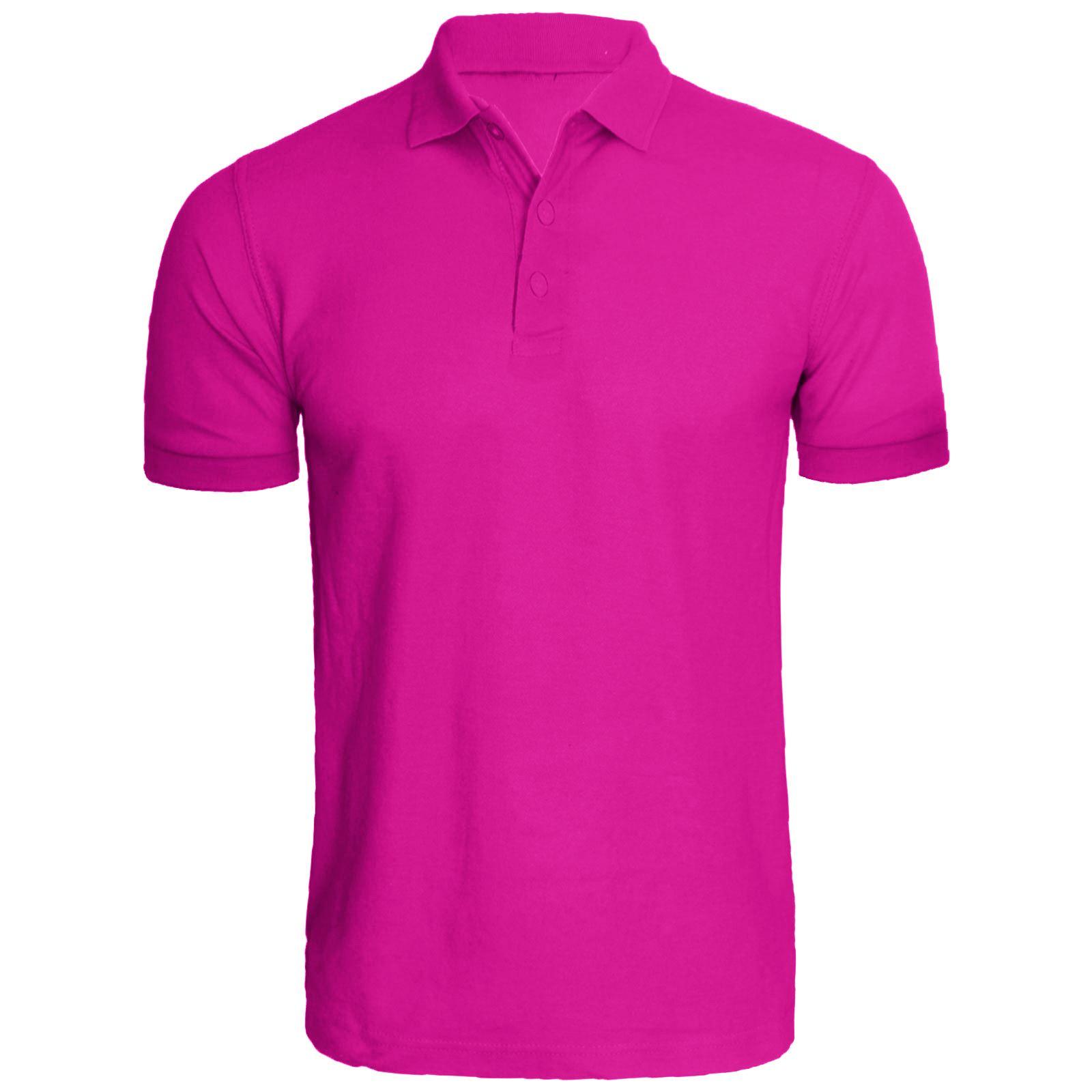 New mens polo shirt plain t shirt blank short sleeve shirt for Mens pink shirts uk