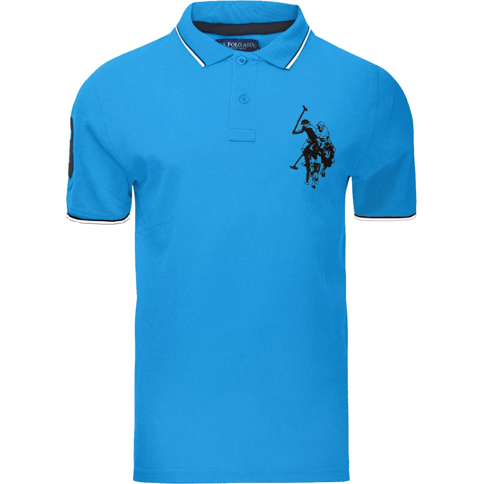 US-Polo-Assn-Para-Hombre-Manga-Corta-Big-Pony-contraste-Lauren-Polo-Camiseta-Top-Lote