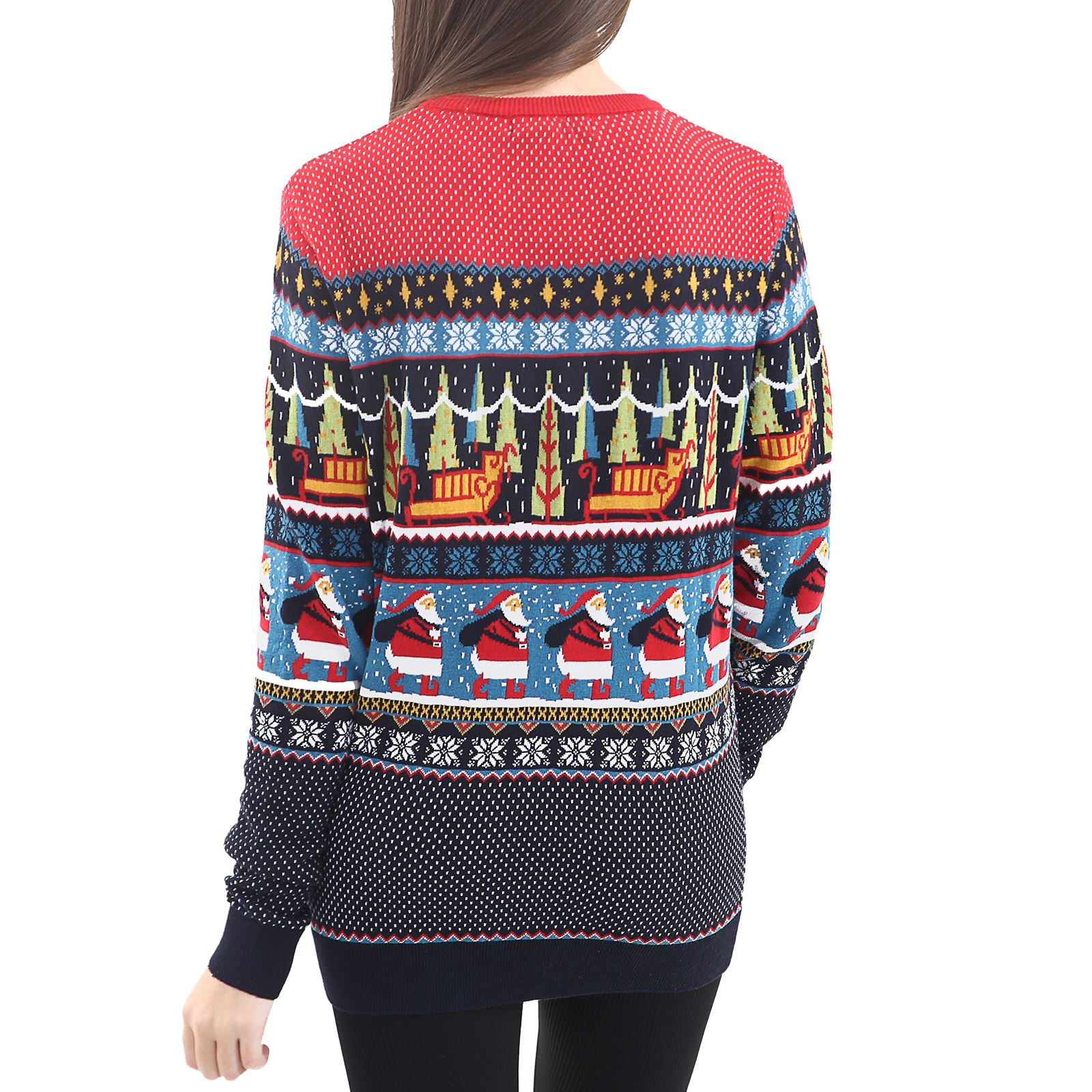 Mens-Ladies-Ex-Store-Matching-Christmas-Sweater-Jumper-Sweatshirt-Xmas-His-Hers thumbnail 16