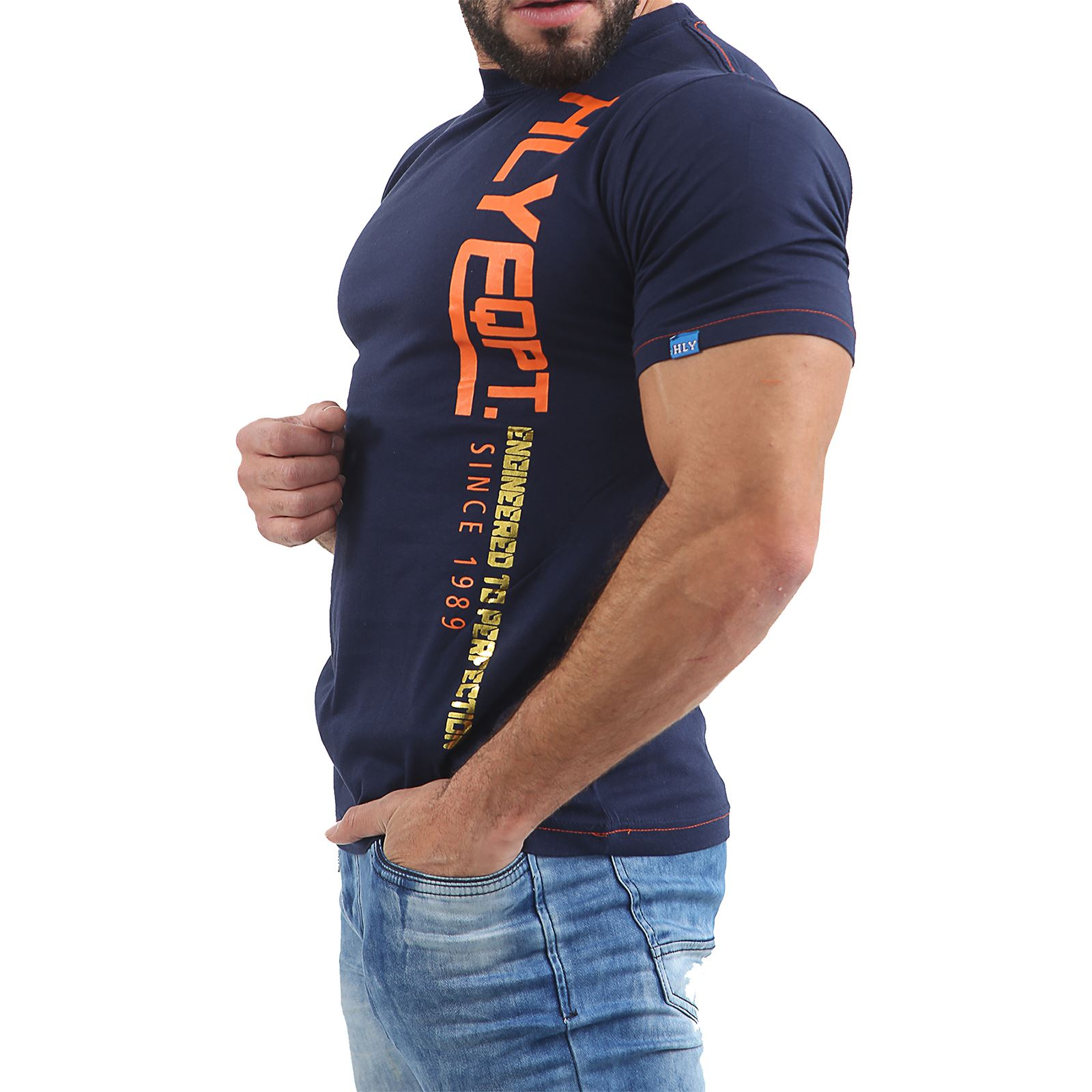 Mens-HLY-EQPT-Printed-T-Shirt-100-Cotton-Gym-Athletic-Training-Tee-Top-Summer thumbnail 13
