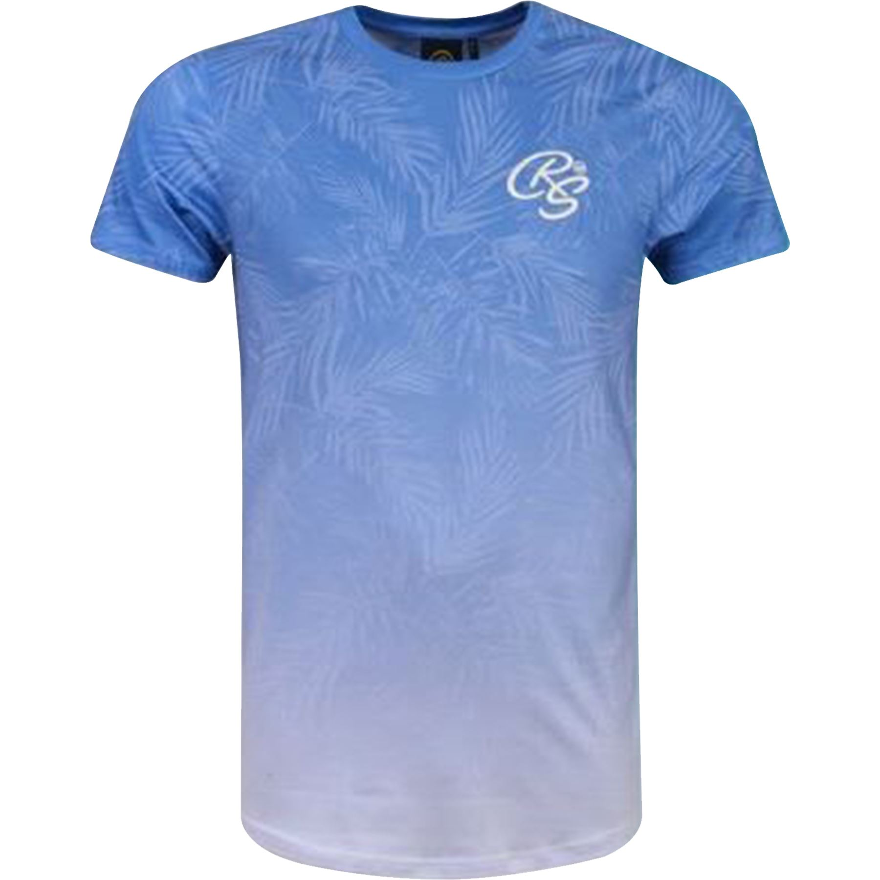 New-Mens-Crosshatch-T-Shirt-Summer-Contrast-Fade-2-Tone-Short-Sleeved-Top-Tee thumbnail 3