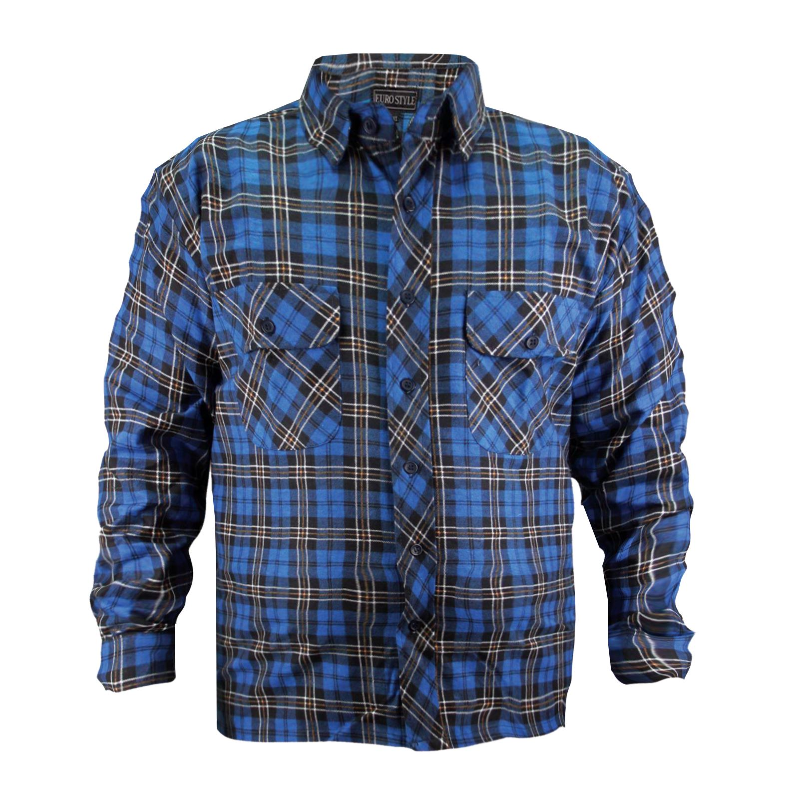 New-Mens-Ex-Store-Work-Shirt-Lumberjack-Long-Sleeve-Check-Brushed-Flannel-Cotton thumbnail 5