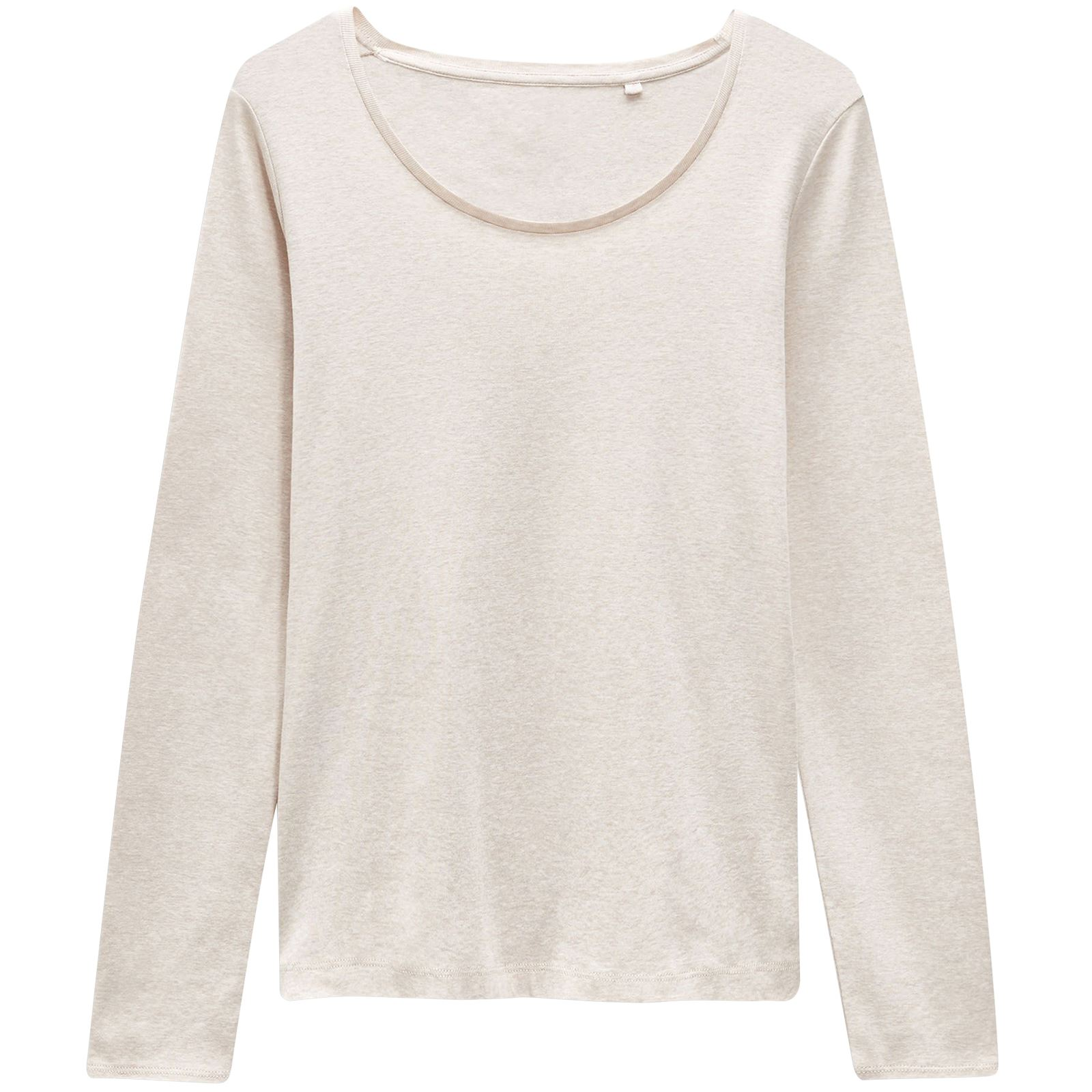 New-Ladies-Womens-Scoop-Neck-Long-Sleeve-Cotton-T-Shirt-Top-Plus-Size-6-24