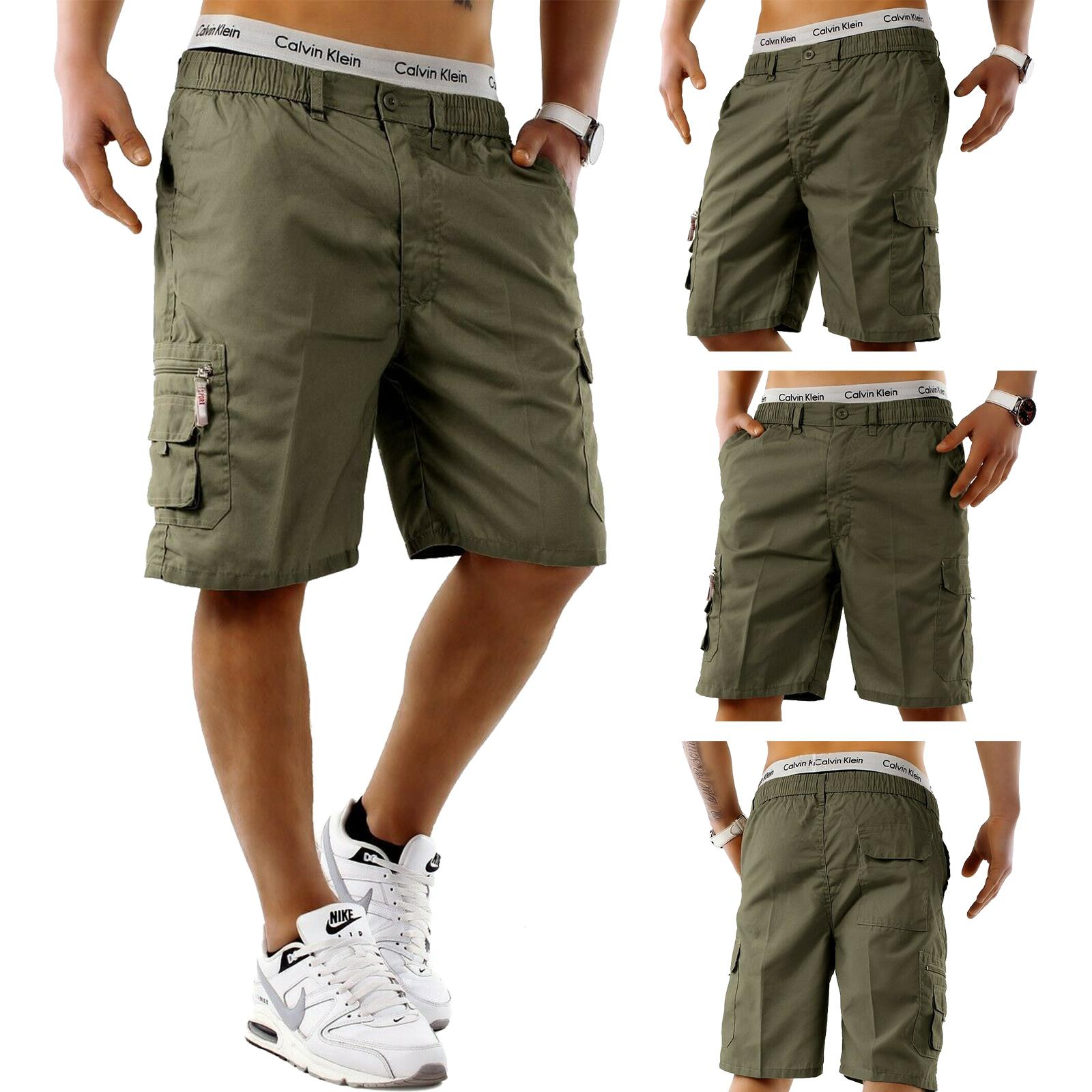 Mens-Cargo-Shorts-Elasticated-Waist-Casual-Cotton-Combat-Pants-M-L-XL-2XL-3XL thumbnail 5
