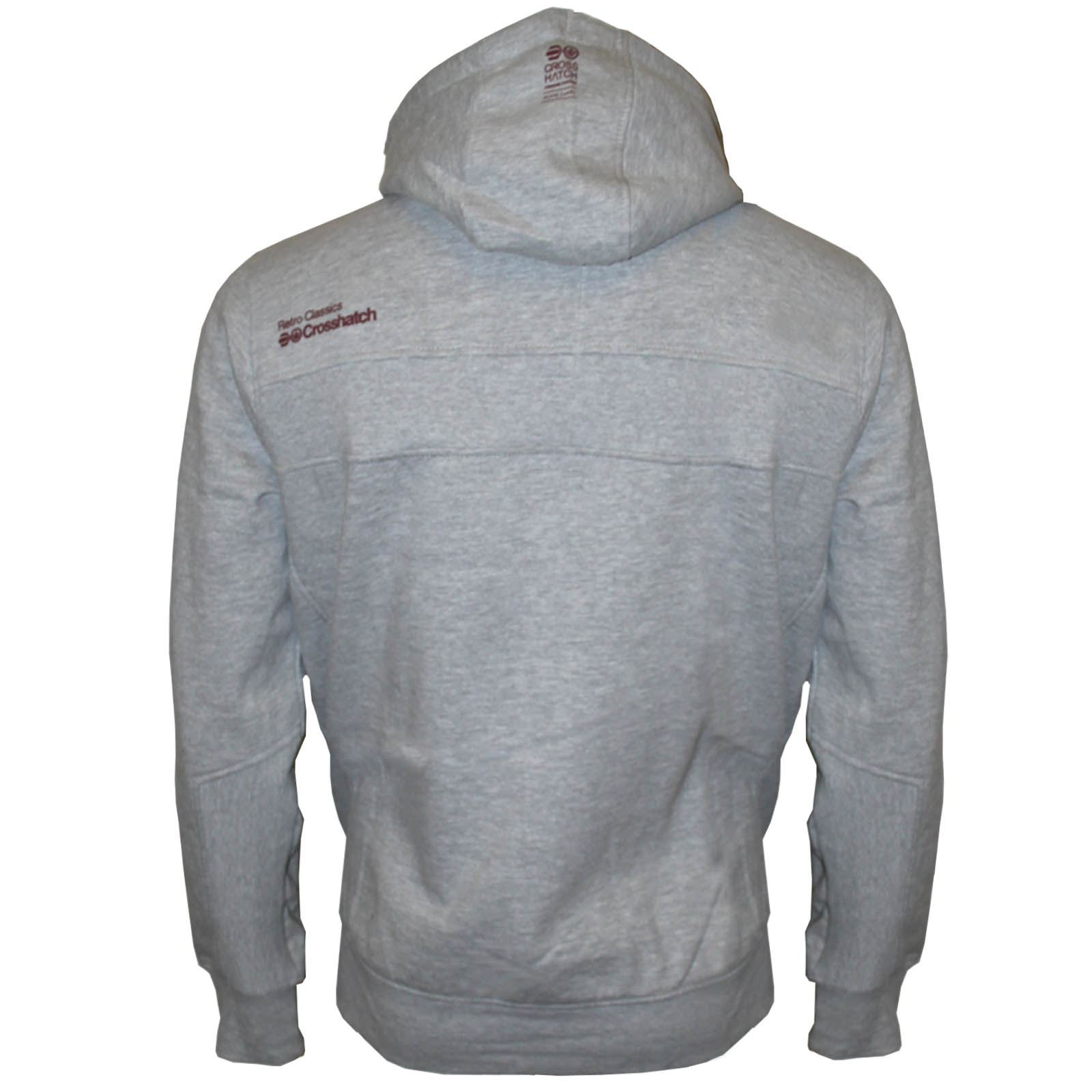 MENS-PULLOVER-FLEECE-CROSSHATCH-HOODIE-HOODED-SWEATSHIRT-JUMPER-TOP-2018-WINTER