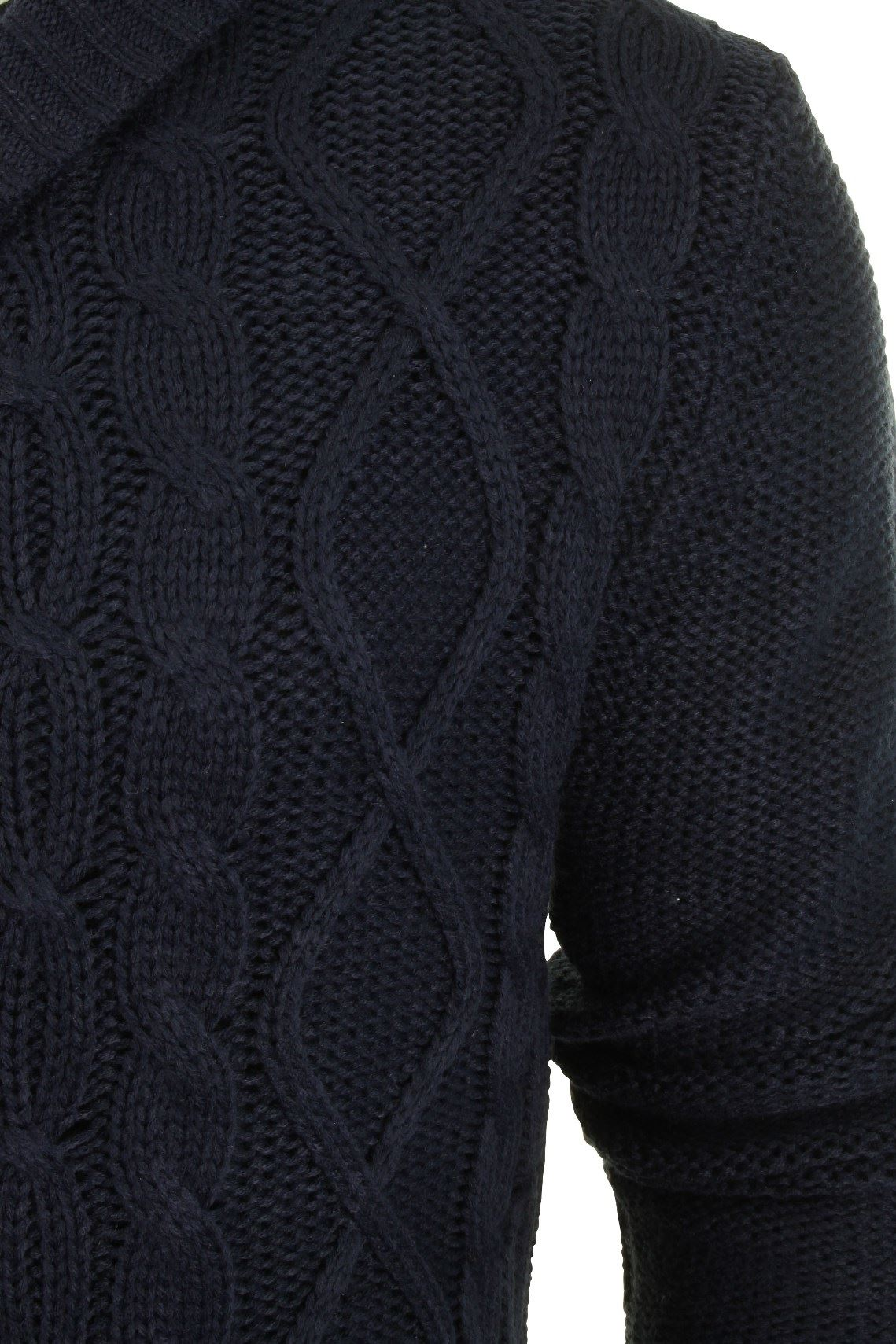 Mens-Cable-Knitted-Cardigan-Brave-Soul-Buttoned-Sweater-Shawl-Neck-Winter-New thumbnail 5