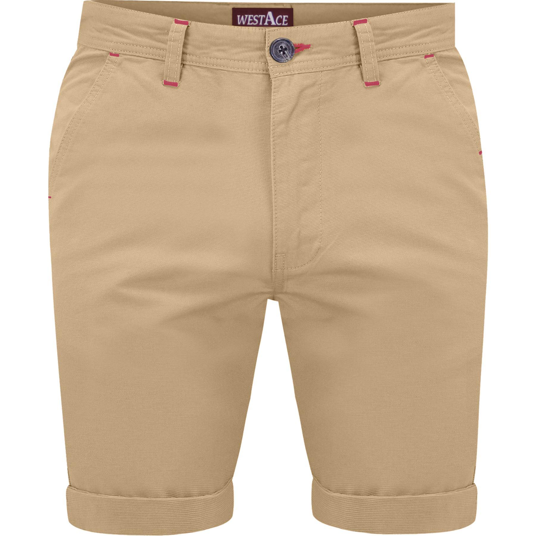 Mens-Chino-Shorts-Cotton-Summer-Casual-Jeans-Cargo-Combat-Half-Pants-Casual-New thumbnail 15