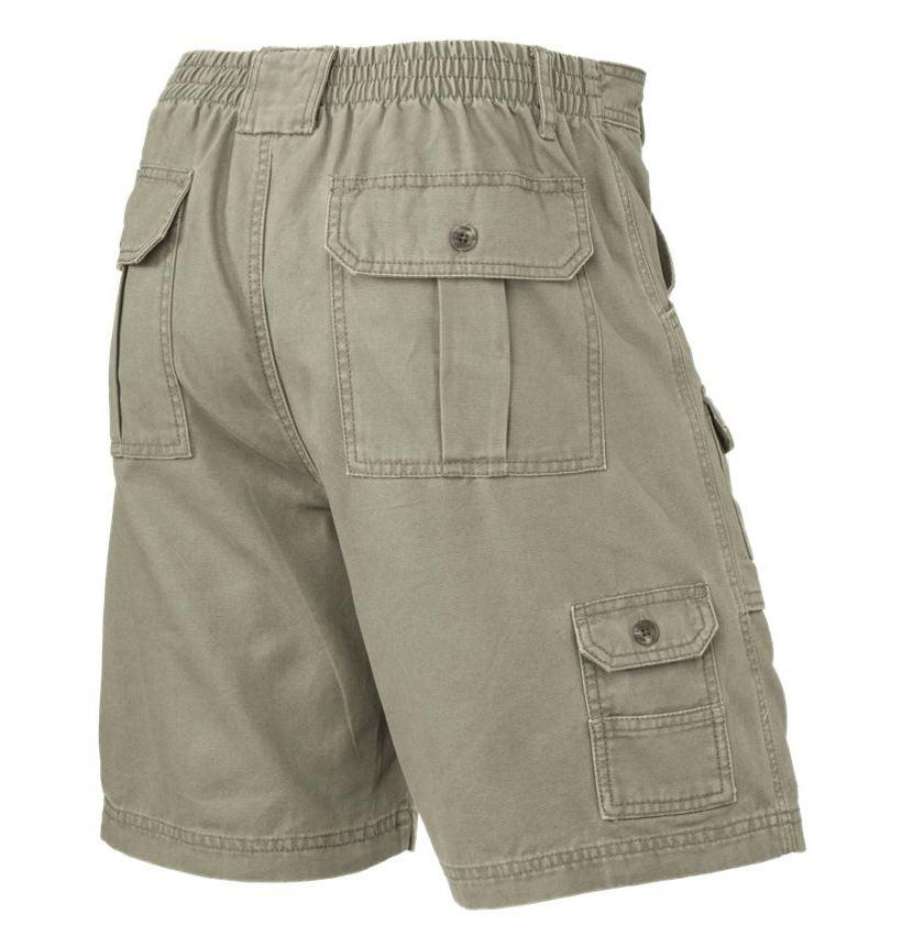 Mens-Elasticated-Cargo-Chino-Combat-Shorts-100-Cotton-Work-King-Pants-32-54 thumbnail 9