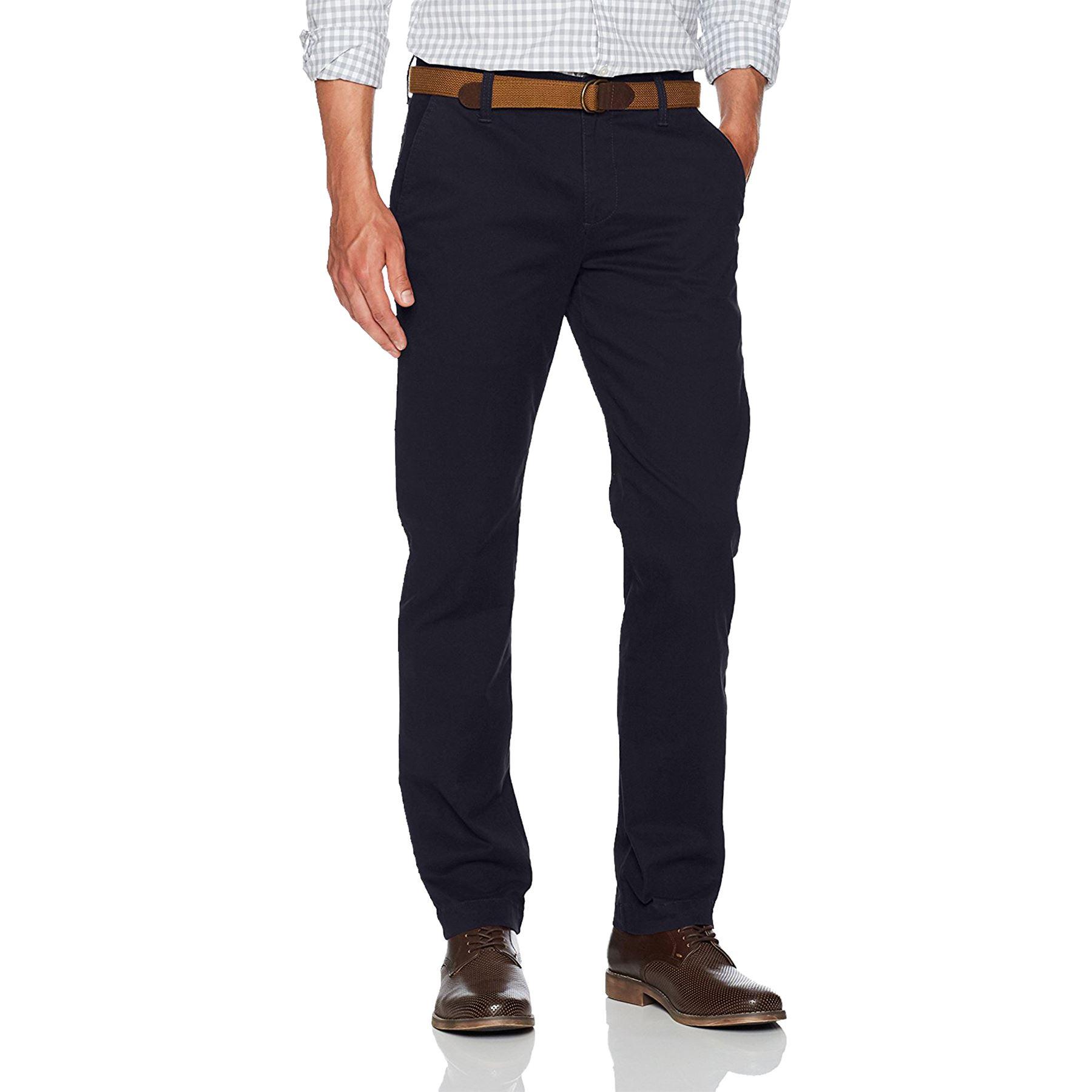 Nuevo-Para-hombres-Pantalones-Chino-Formal-De-Marca-Disenador-De-Pierna-Recta-Regular-De-Algodon