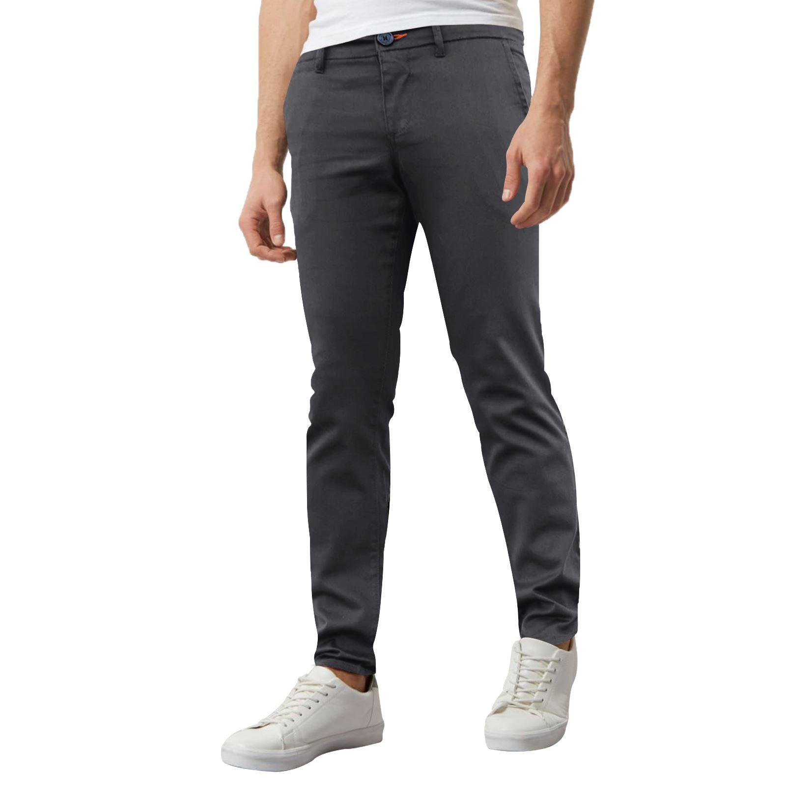 Jeans-Para-Hombre-de-Disenador-Nuevo-chinos-Elastizados-ajustados-Calce-Ajustado-Pantalones-todos miniatura 19