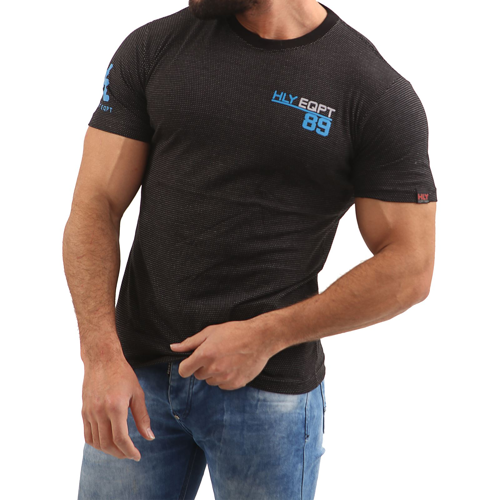 Mens-HLY-EQPT-Printed-T-Shirt-100-Cotton-Gym-Athletic-Training-Tee-Top-Summer thumbnail 21