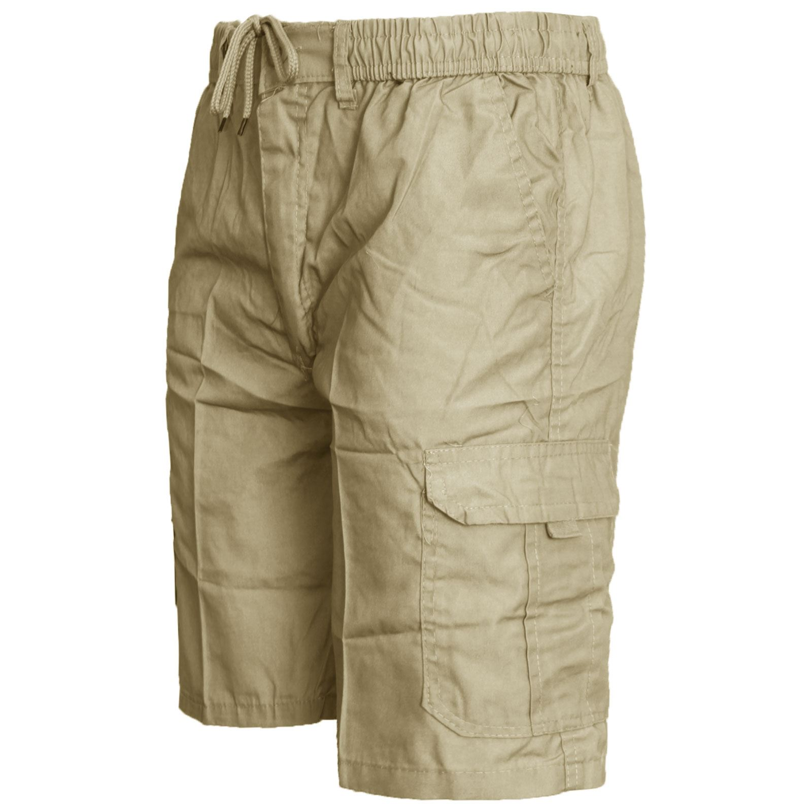 MENS-ELASTICATED-KNEE-LENGTH-OR-3-4-SHORTS-CARGO-COMBAT-MULTI-POCKET-SUMMER-PANT thumbnail 4