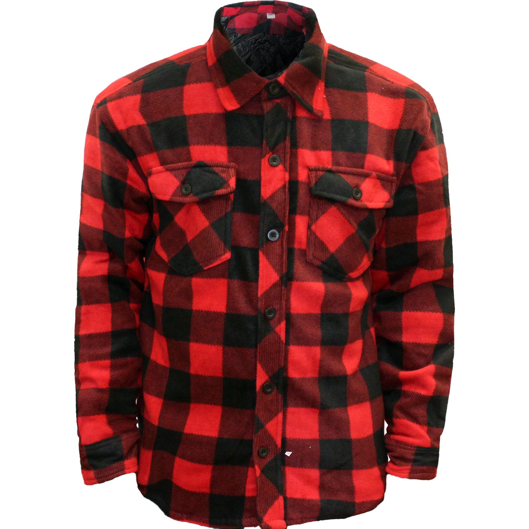 New mens thick padded quilted check lumberjack shirt warm for Mens padded lumberjack shirt