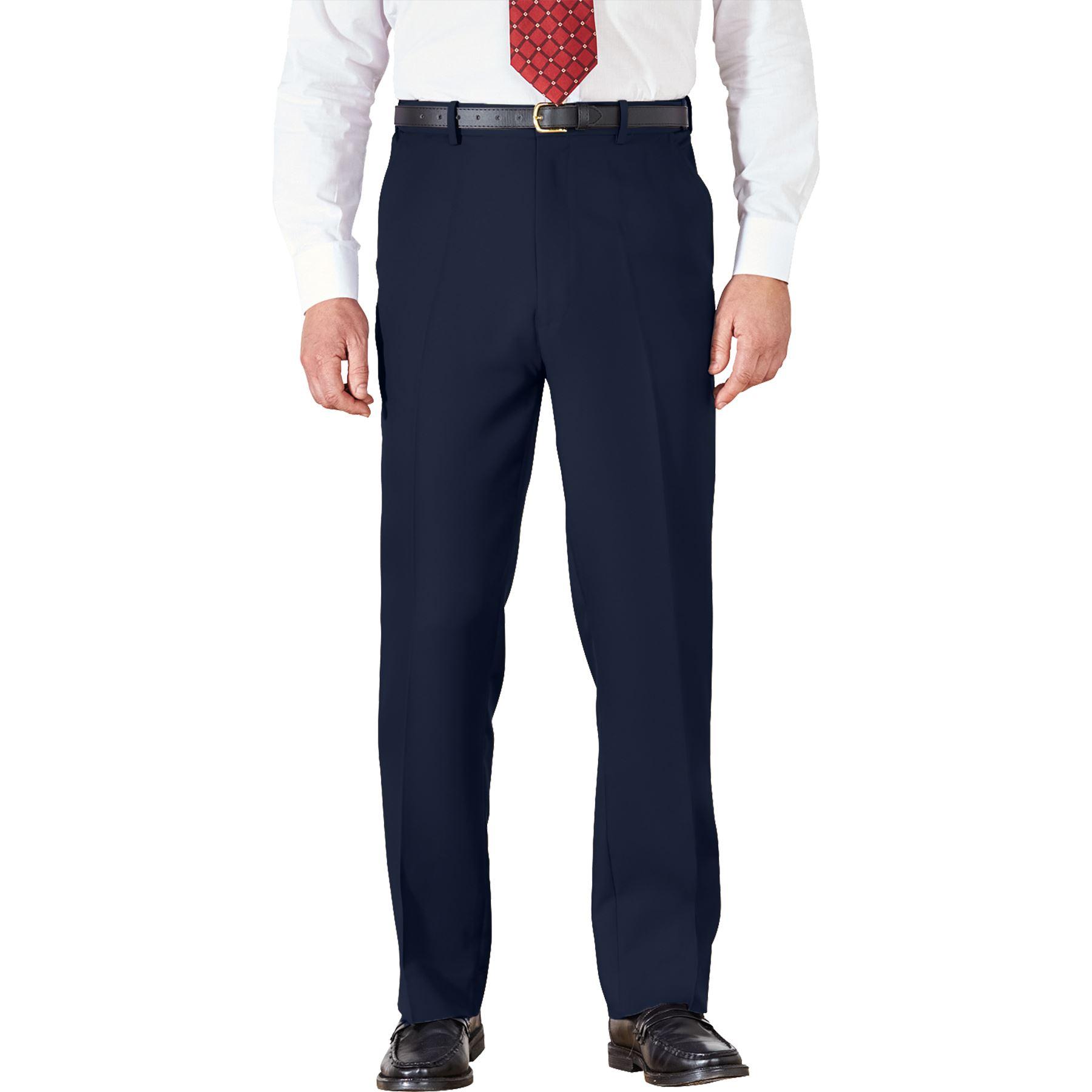 Para-Hombres-Pantalones-Regular-Fit-Straight-Chino-De-Algodon-Informales-Pantalones-de-trabajo miniatura 5