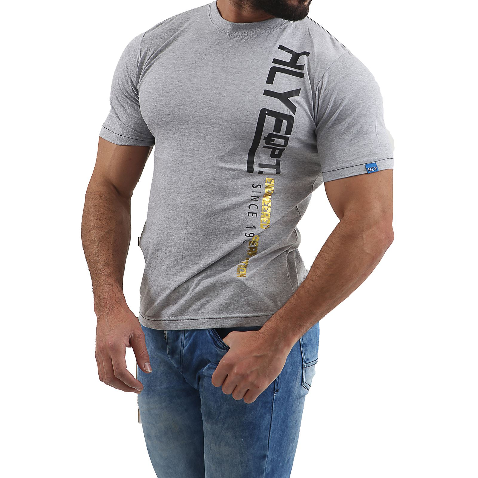 Mens-HLY-EQPT-Printed-T-Shirt-100-Cotton-Gym-Athletic-Training-Tee-Top-Summer thumbnail 8