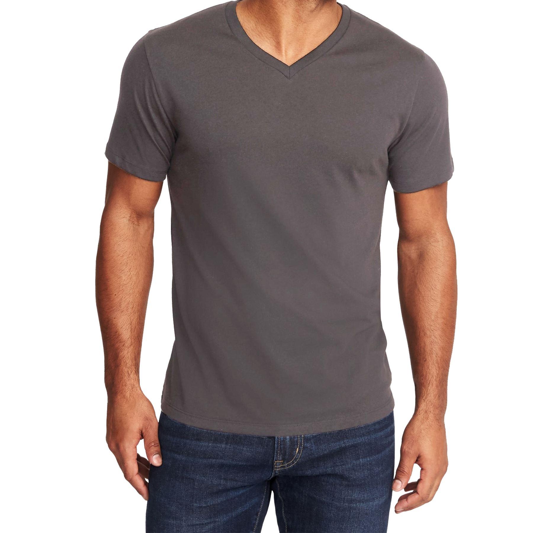 5a8da4ee3 Mens Soft Washed V Neck T Shirt Plain Old Navy Slim Fit Gym Short ...