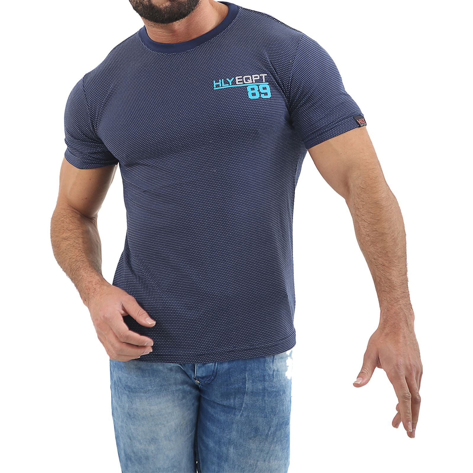 Mens-HLY-Printed-T-Shirt-100-Cotton-Gym-Athletic-Training-Tee-Top-Summer-New thumbnail 42
