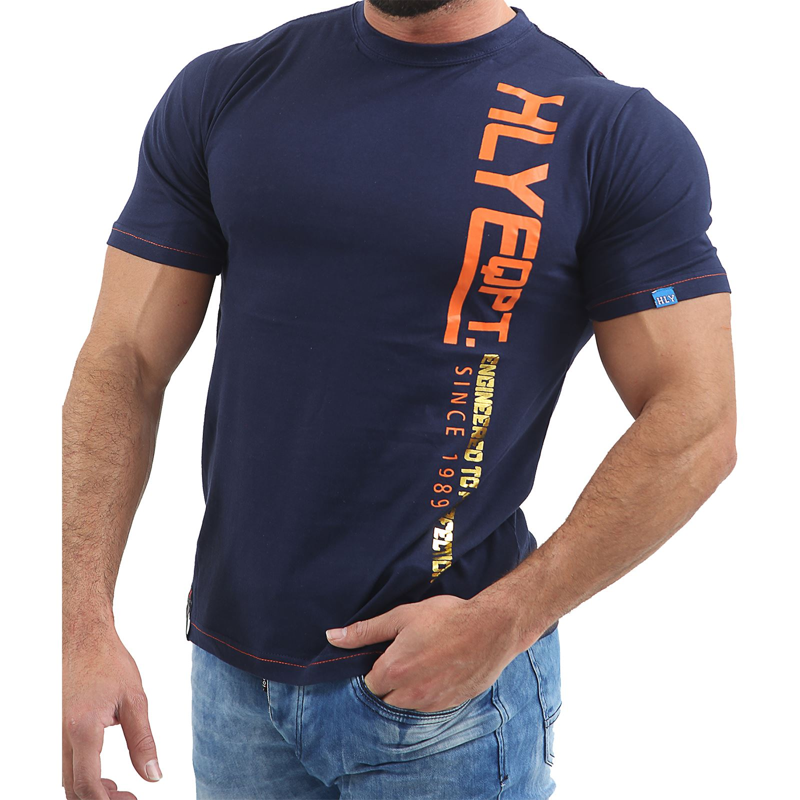 Mens-HLY-EQPT-Printed-T-Shirt-100-Cotton-Gym-Athletic-Training-Tee-Top-Summer thumbnail 12