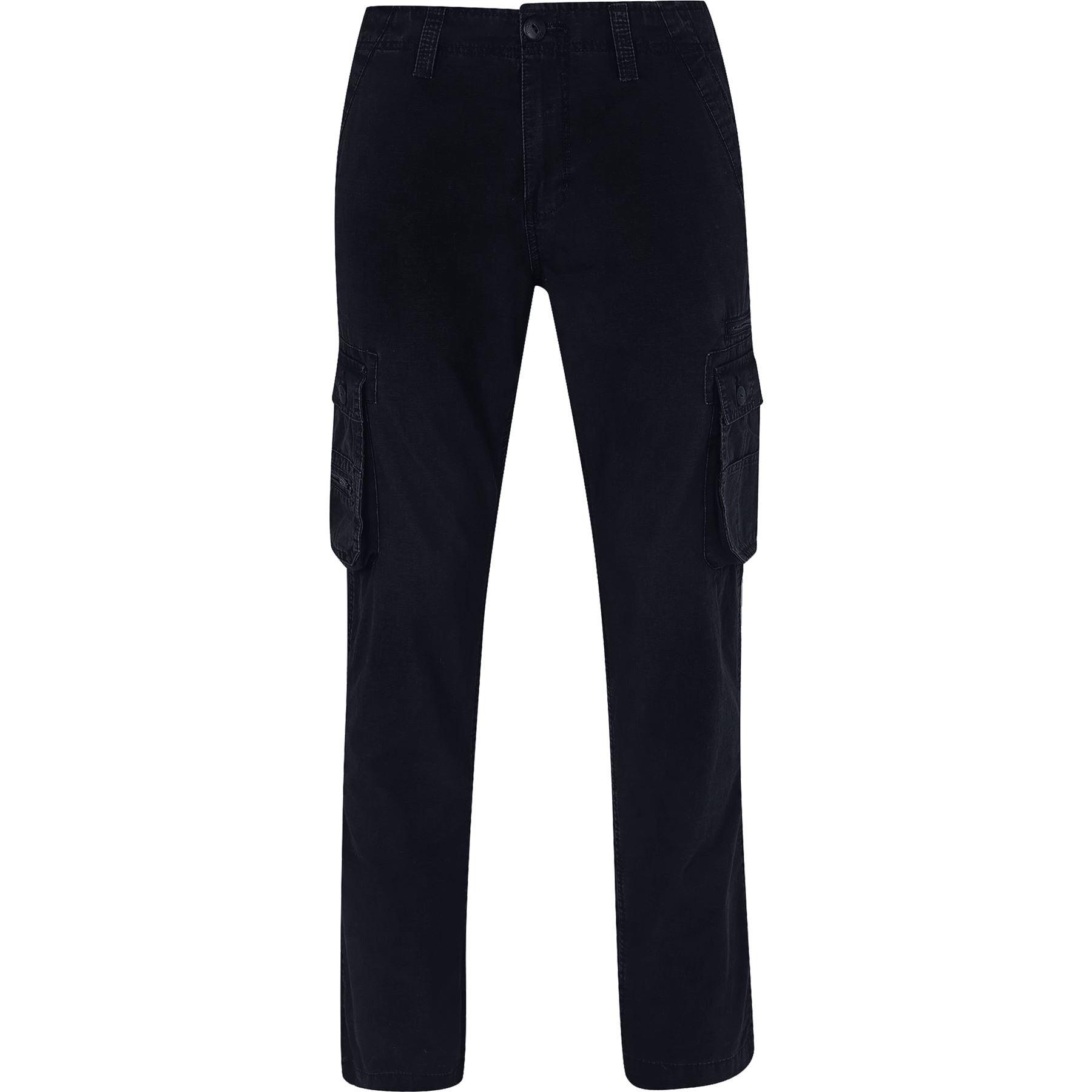 Men-s-Cargo-Combat-Work-Heavy-Trousers-100-Cotton-Plain-Pants-Ex-Store thumbnail 4