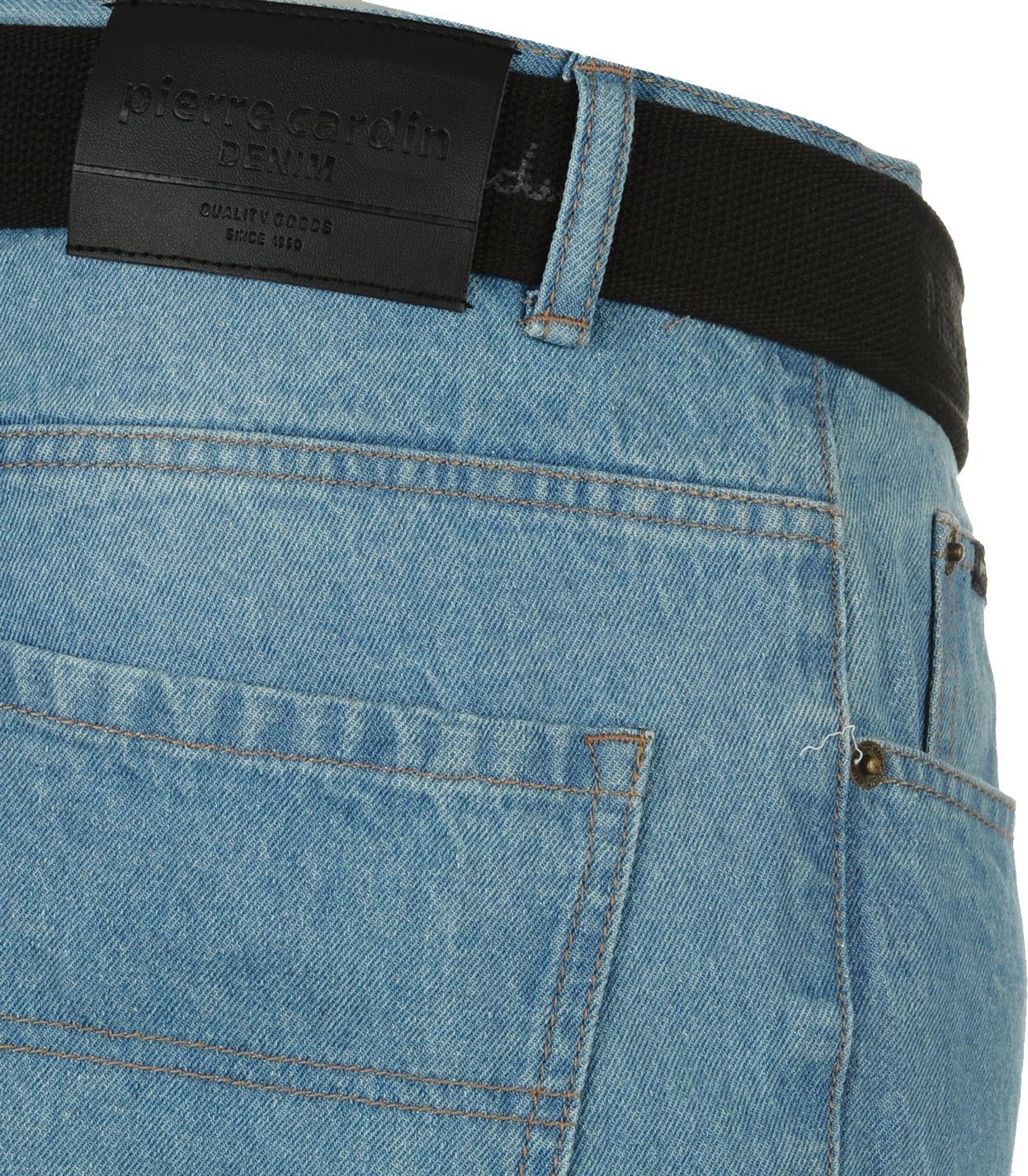 Mens-Belted-Denim-Jeans-Straight-Leg-Regular-Fit-Pierre-Cardin-Pants-Big-Tall thumbnail 13