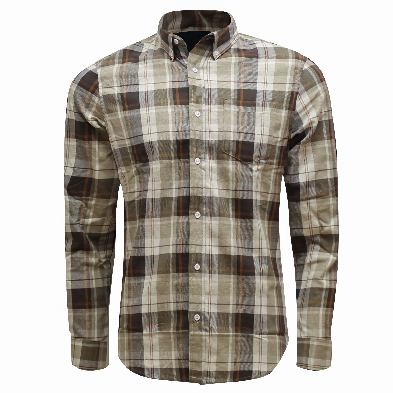 new mens flannel shirt brushed cotton work shirts smart