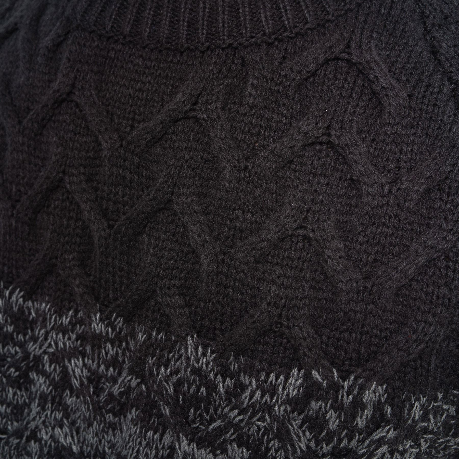 Mens-Knit-Jumper-Cable-Fisherman-Crosshatch-Sweater-Pullover-Top-Ribbed-Winter thumbnail 7