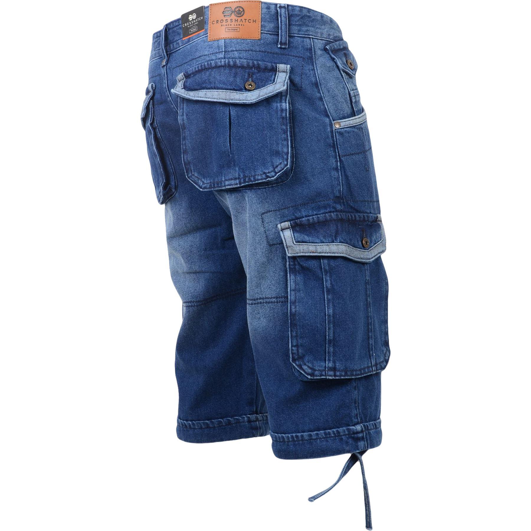 New-Mens-Crosshatch-Canvas-Cargo-Denim-Camo-Shorts-Chino-2019-Styles-30-42-034 thumbnail 33