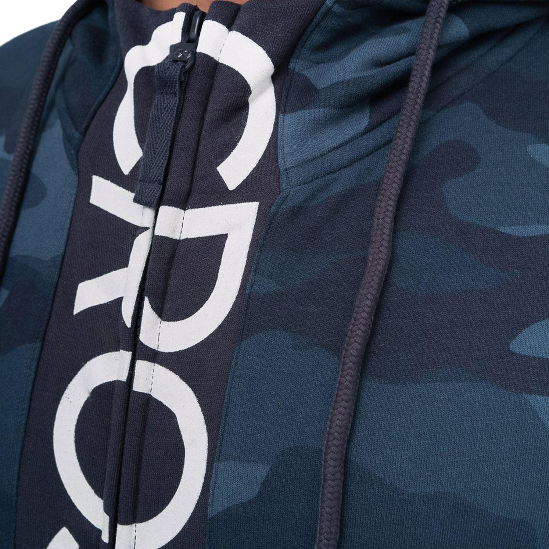 Crosshatch-Mens-Camo-Hoodie-Designer-Army-Style-Jacket-Zip-Thru-Pocket-Jacket thumbnail 4