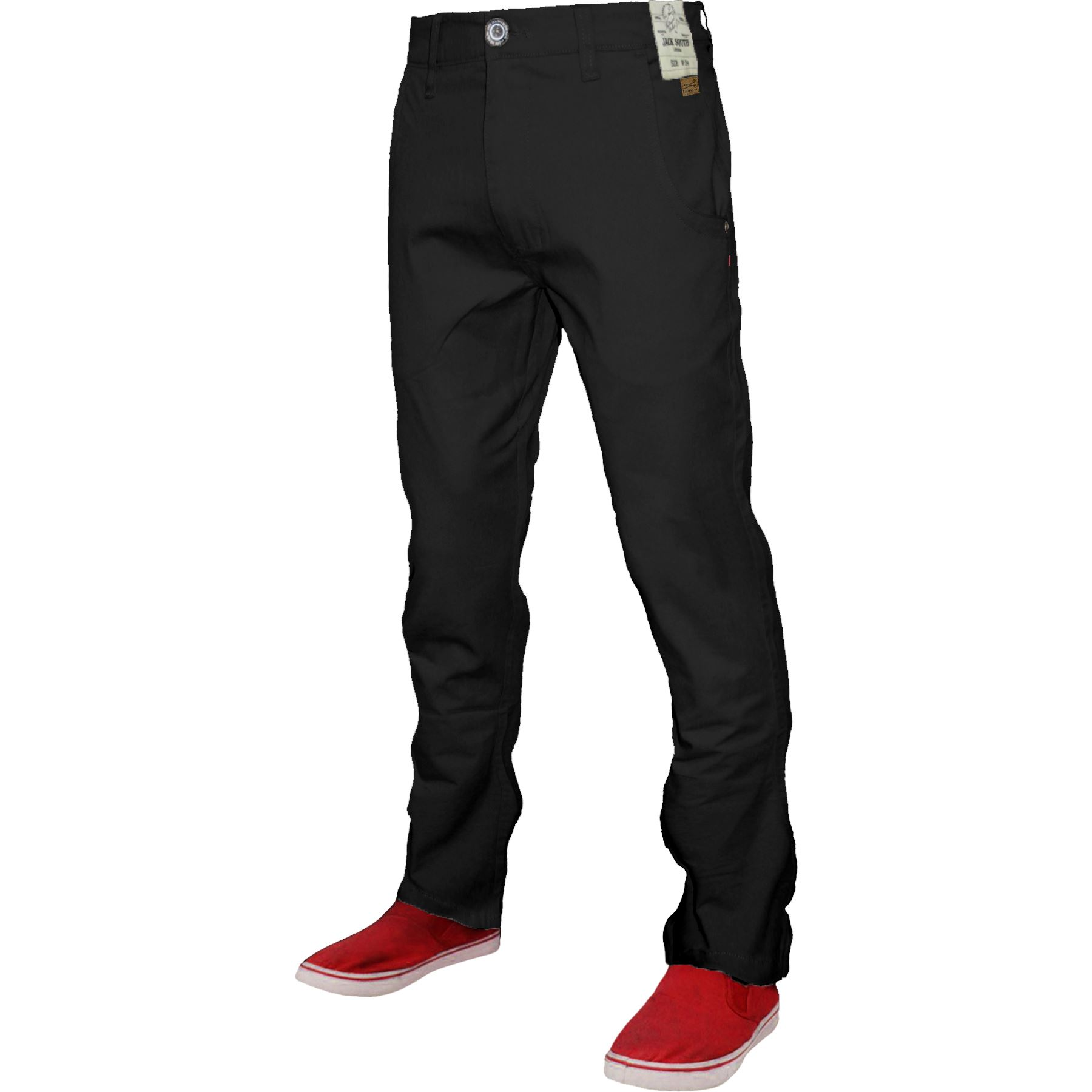 Mens-Chino-Classic-Regular-Fit-Trouser-Casual-Stretch-Spandex-Pants-Size-32-40 thumbnail 3