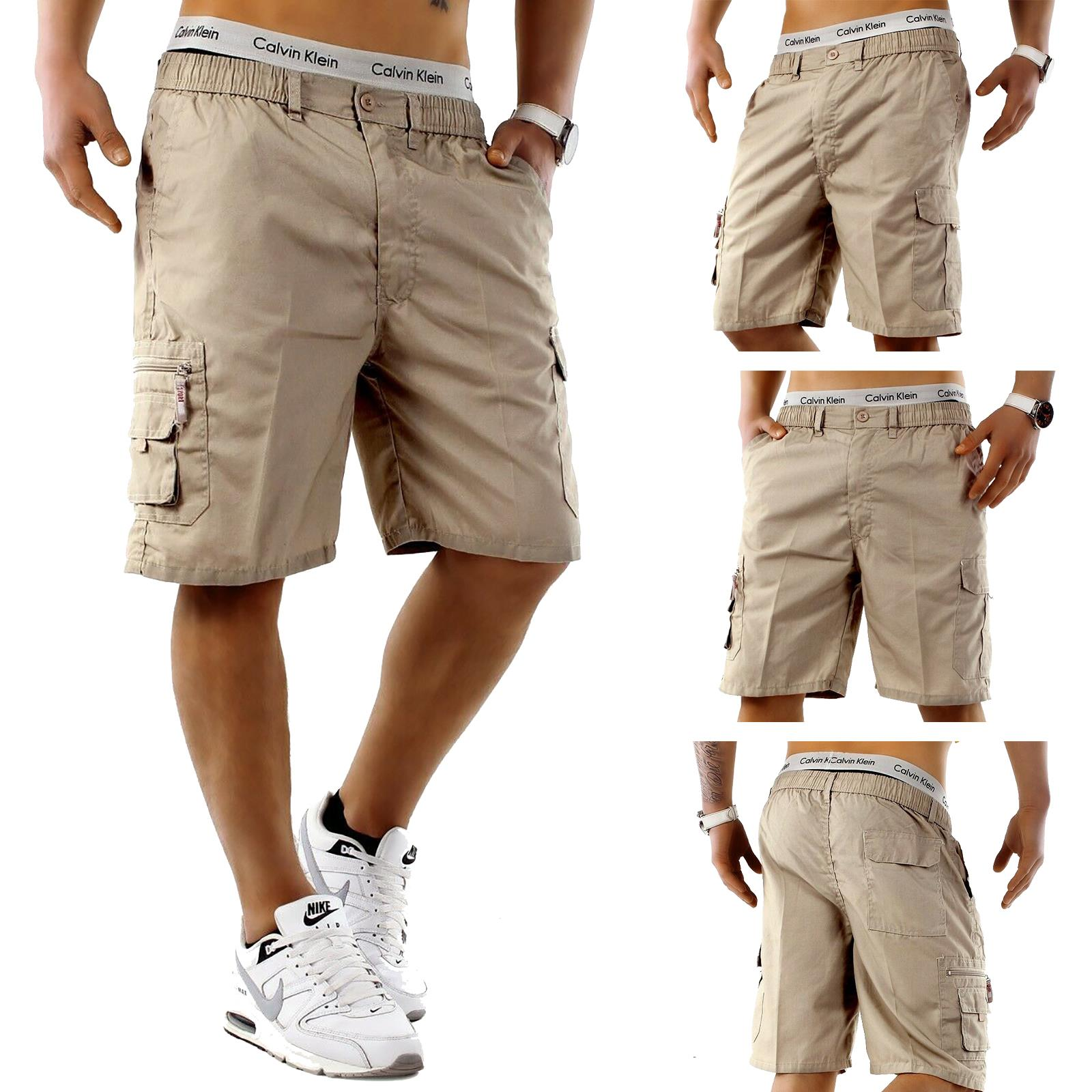 Mens-Cargo-Shorts-Elasticated-Waist-Casual-Cotton-Combat-Pants-M-L-XL-2XL-3XL thumbnail 2