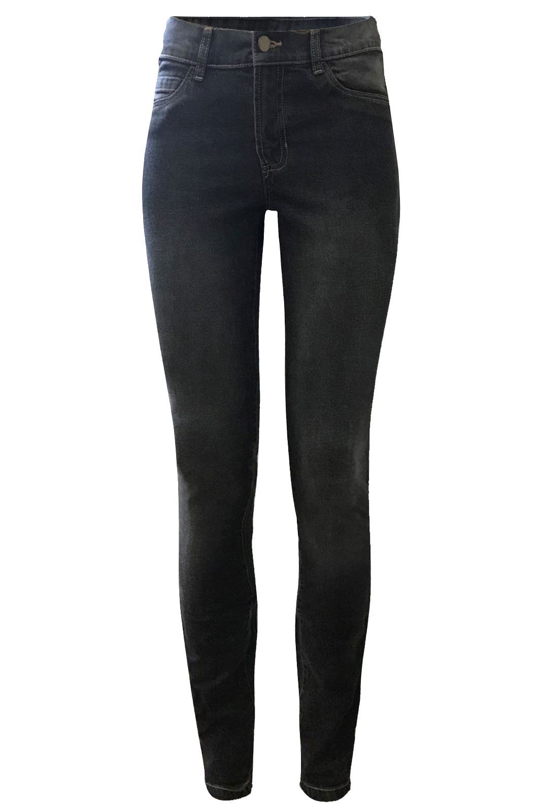 Womens-Ladies-Ex-Zara-Spandex-Stretch-Jeans-Dark-Black-Wash-Denim-Trousers-8-16 thumbnail 5
