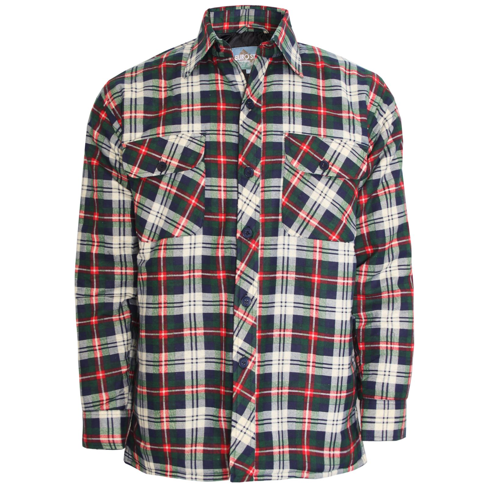 shirt jacket plaid qlt quilted quilt men prod hei p spin wid wrangler flannel s