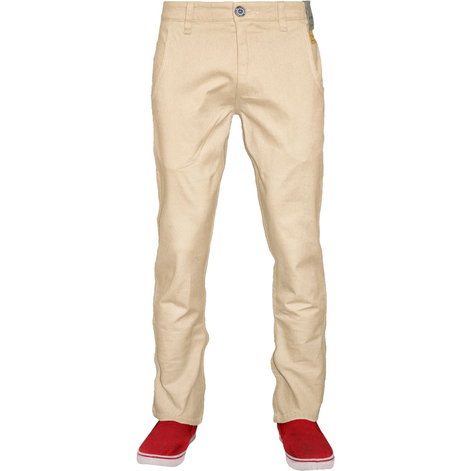 New-Mens-Chino-Trousers-100-Cotton-Pant-Straight-Leg-Slim-Fit-Jeans-Bottom thumbnail 20