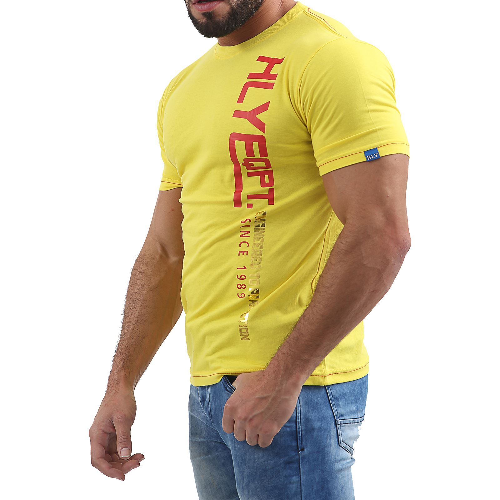 Mens-HLY-EQPT-Printed-T-Shirt-100-Cotton-Gym-Athletic-Training-Tee-Top-Summer thumbnail 17