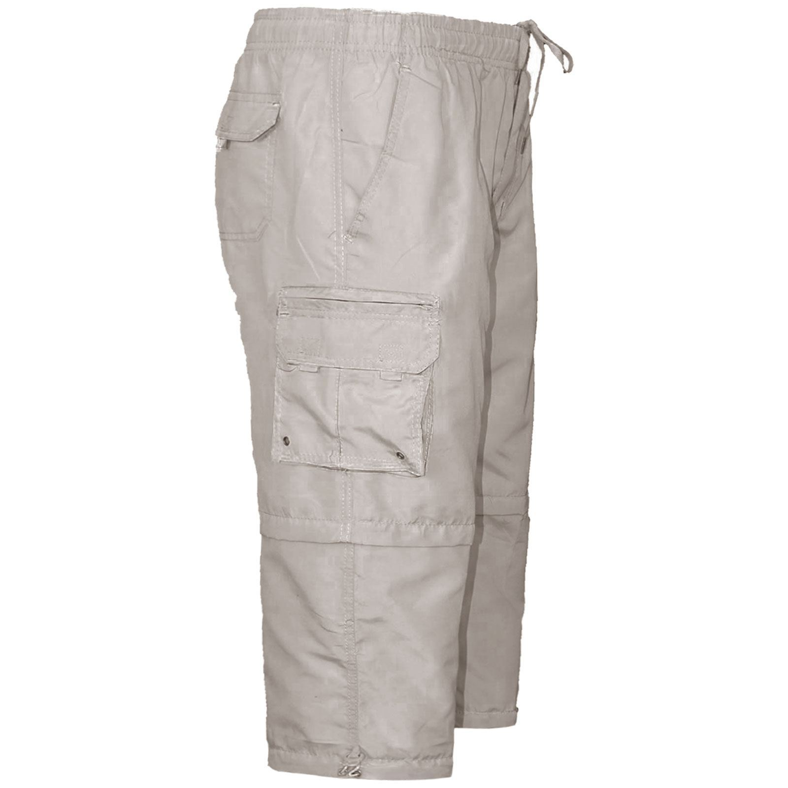 Para-Hombre-Pantalones-Cortos-Estilo-Cargo-Bermudas-Cremallera-Elastico-Pierna-Longitud-2-a-la miniatura 23