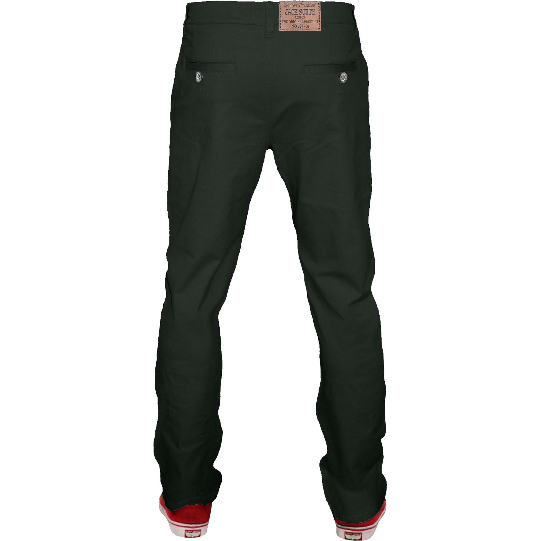 Mens-Chino-Classic-Regular-Fit-Trouser-Casual-Stretch-Spandex-Pants-Size-32-40 thumbnail 7