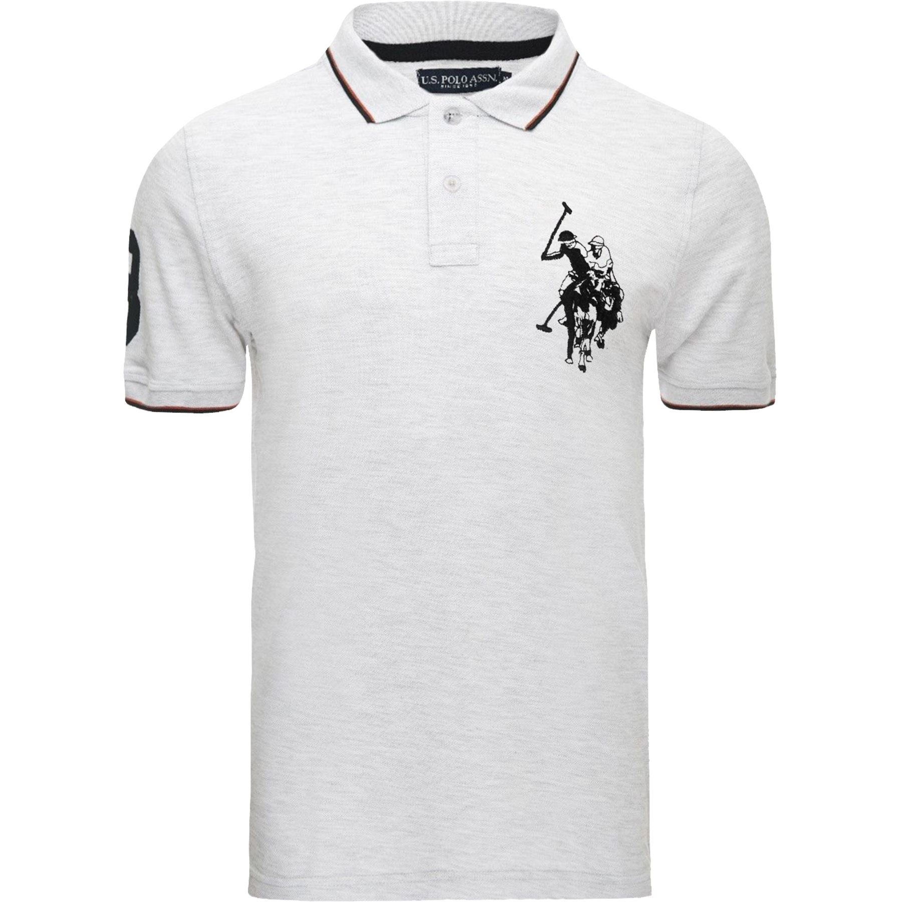 Mens us polo assn short sleeve big pony contrast lauren for Best polo t shirts for men
