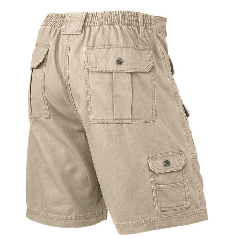 Mens-Elasticated-Cargo-Chino-Combat-Shorts-100-Cotton-Work-King-Pants-32-54 thumbnail 5