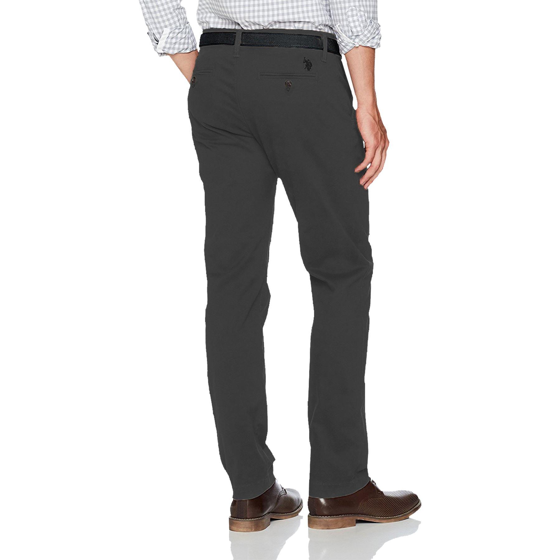 Para-Hombres-Pantalones-Regular-Fit-Straight-Chino-De-Algodon-Informales-Pantalones-de-trabajo miniatura 7