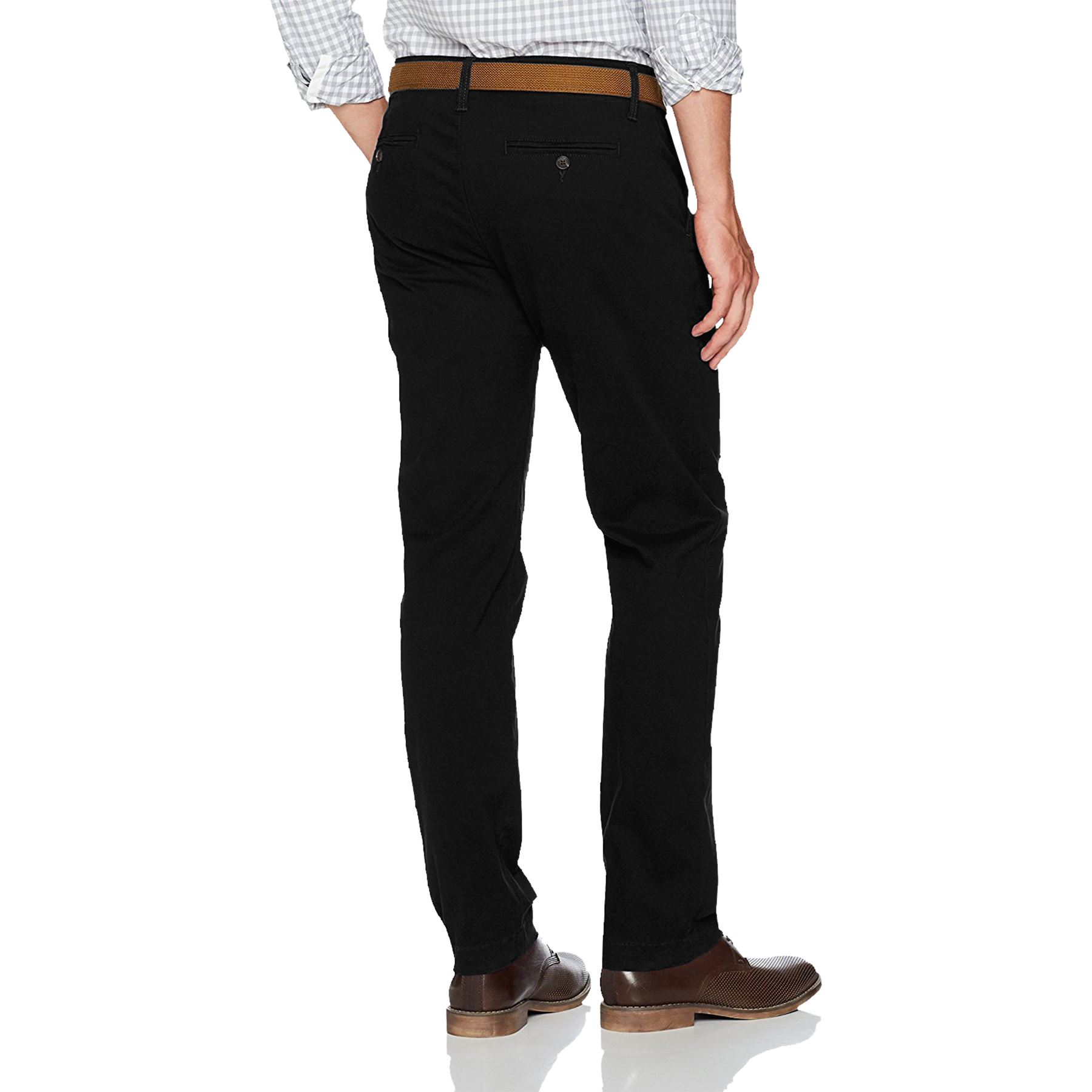 New-Mens-Ex-Store-Chino-Trousers-Regular-Fit-Straight-Cotton-Casual-Work-Pants thumbnail 5