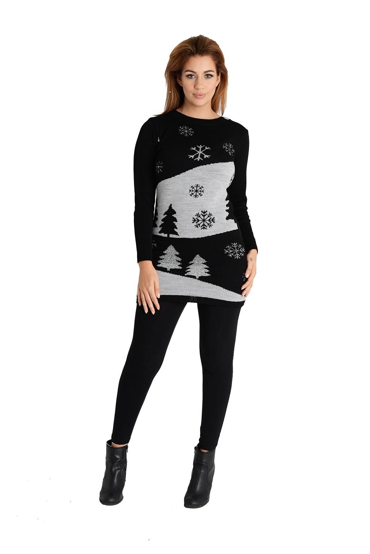 Nouveau-Hommes-Femmes-Noel-Pull-Unisexe-Femmes-Noel-Tricot-Pull-Nouveaute-2019 miniature 56