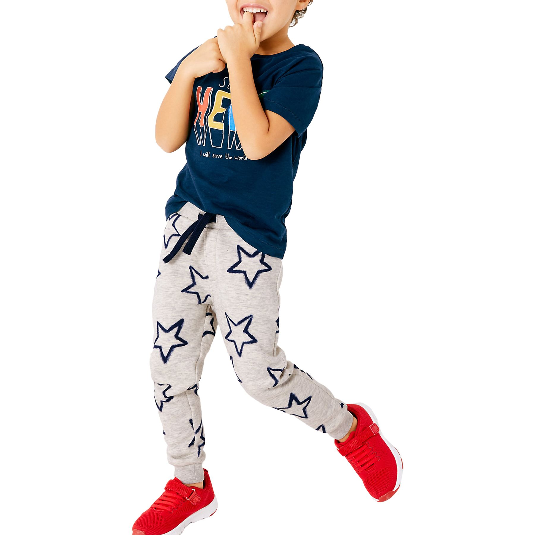 Whispering Jones London M/&S Elasticated Boys Kids Tracksuit Bottoms Jogging Lounging Pyjama Trousers