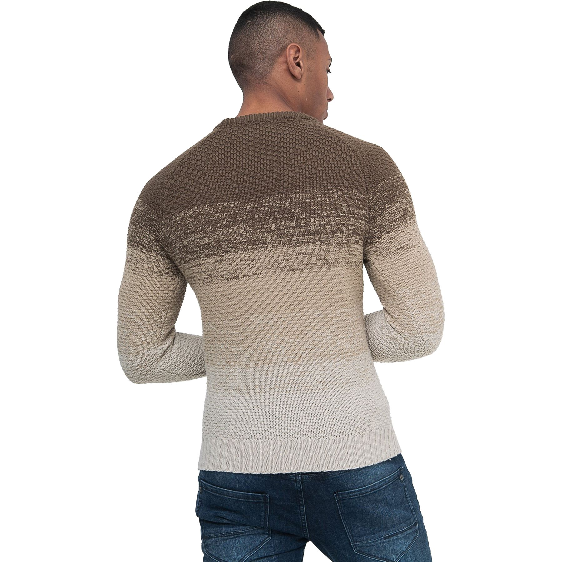Mens-Knit-Jumper-Cable-Fisherman-Crosshatch-Sweater-Pullover-Top-Ribbed-Winter thumbnail 3