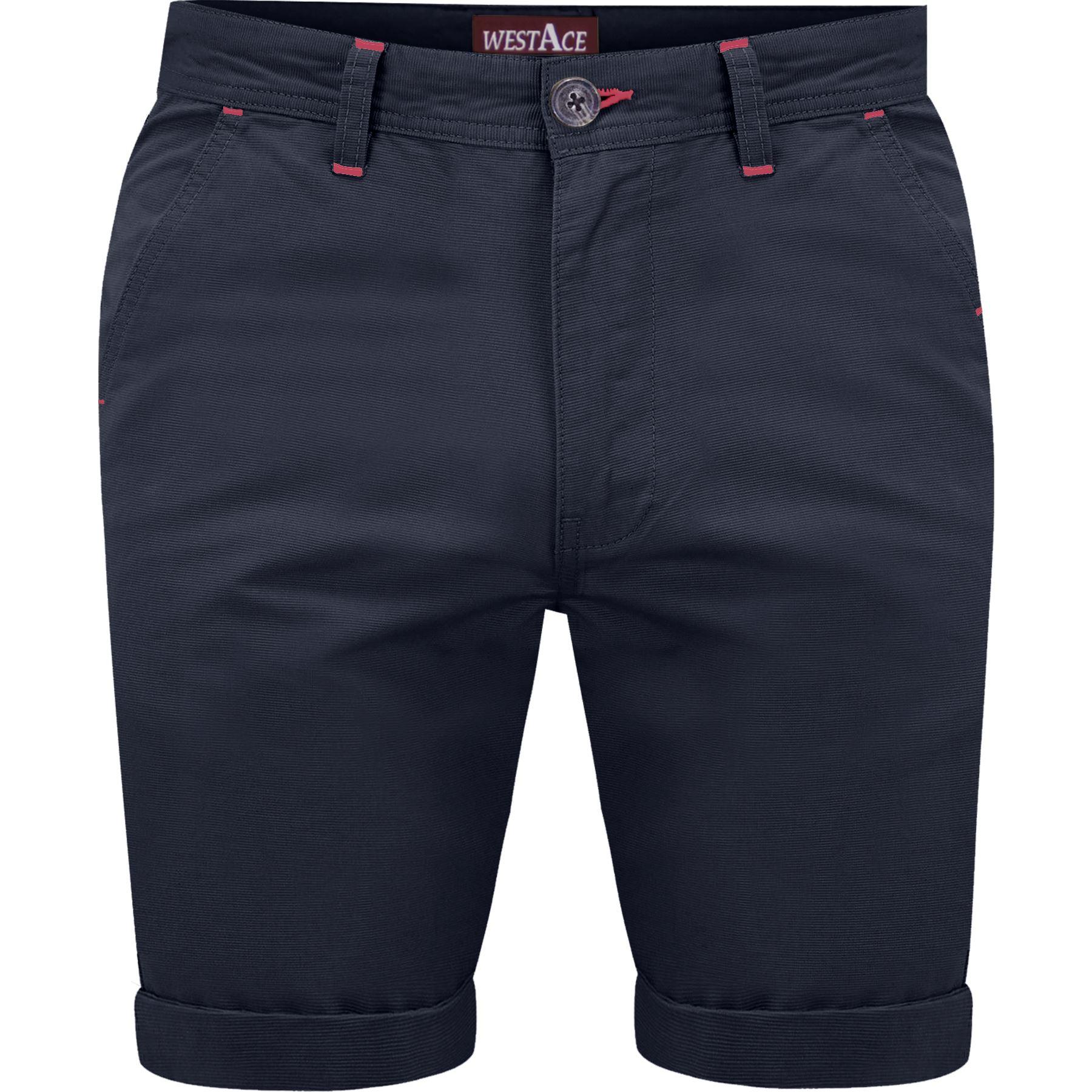 Homme-Pack-de-2-Short-Chino-Coton-Demi-Pantalon-Ete-Casual-Cargo-Combat-Jeans miniature 7