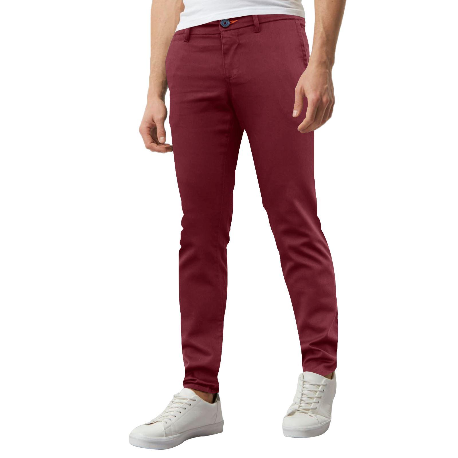 Nouveau-Homme-Pantalon-Chino-Skinny-stretch-super-slim-fit-jeans-homme-30-40-Pantalon miniature 5