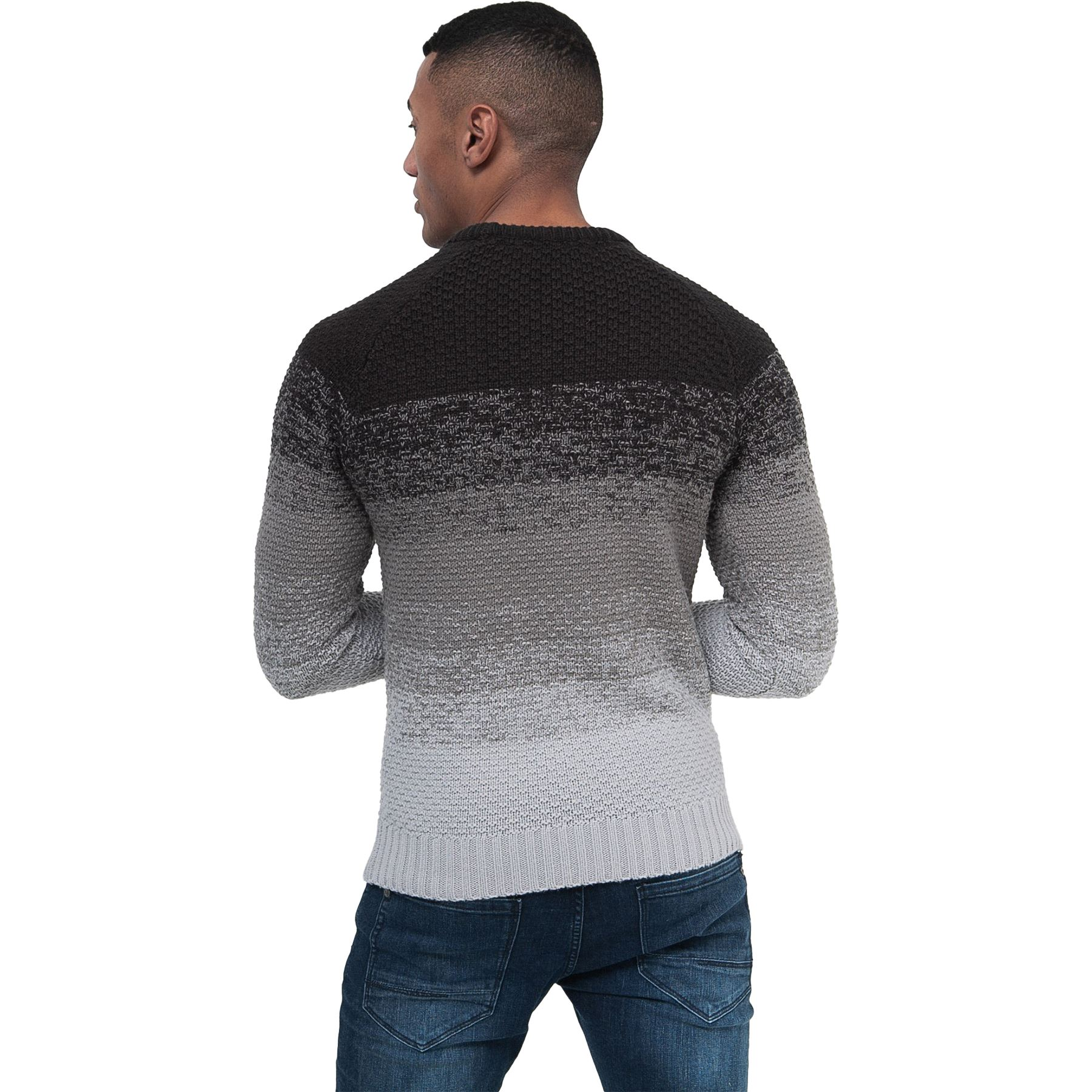 Mens-Knit-Jumper-Cable-Fisherman-Crosshatch-Sweater-Pullover-Top-Ribbed-Winter thumbnail 6