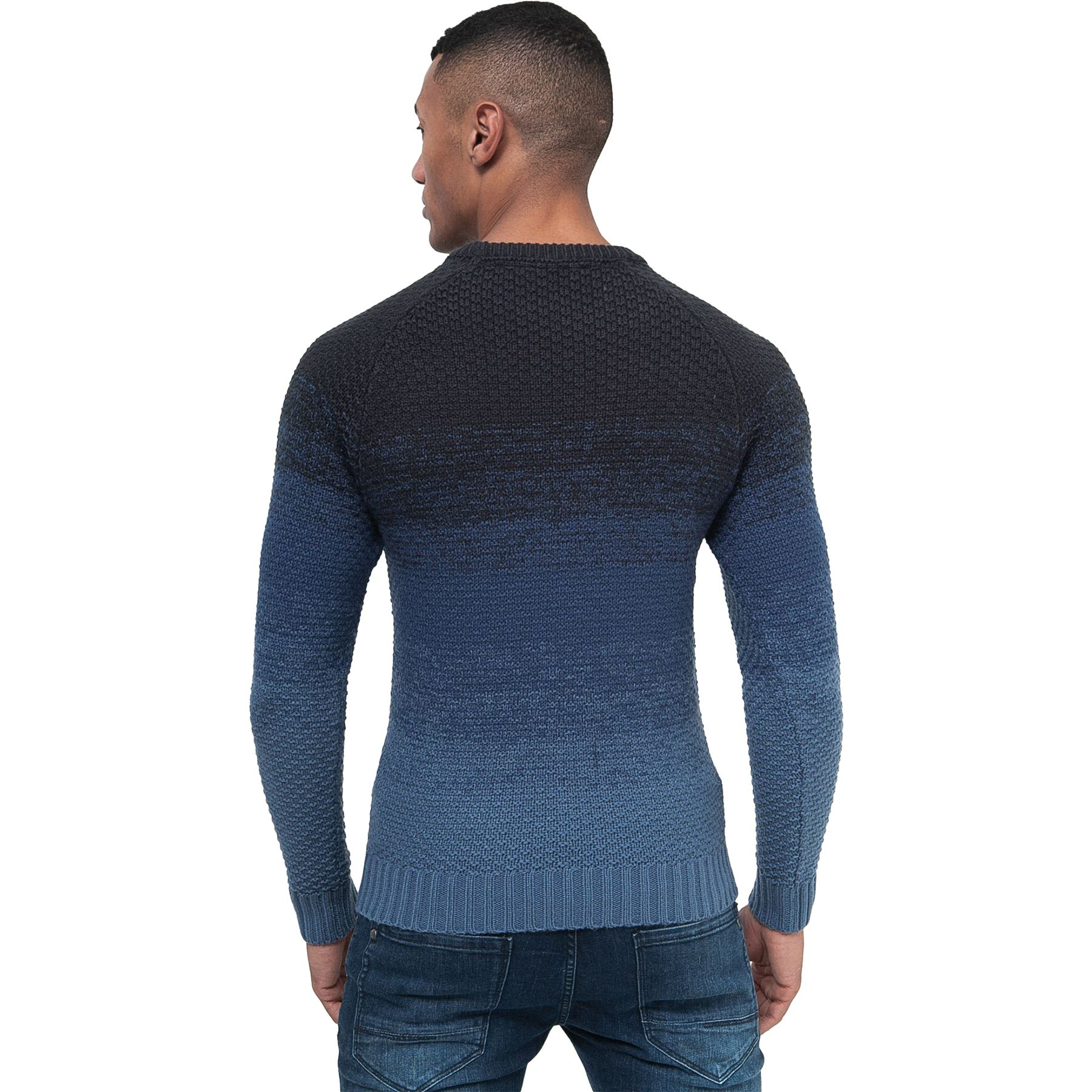 Mens-Knit-Jumper-Cable-Fisherman-Crosshatch-Sweater-Pullover-Top-Ribbed-Winter thumbnail 9